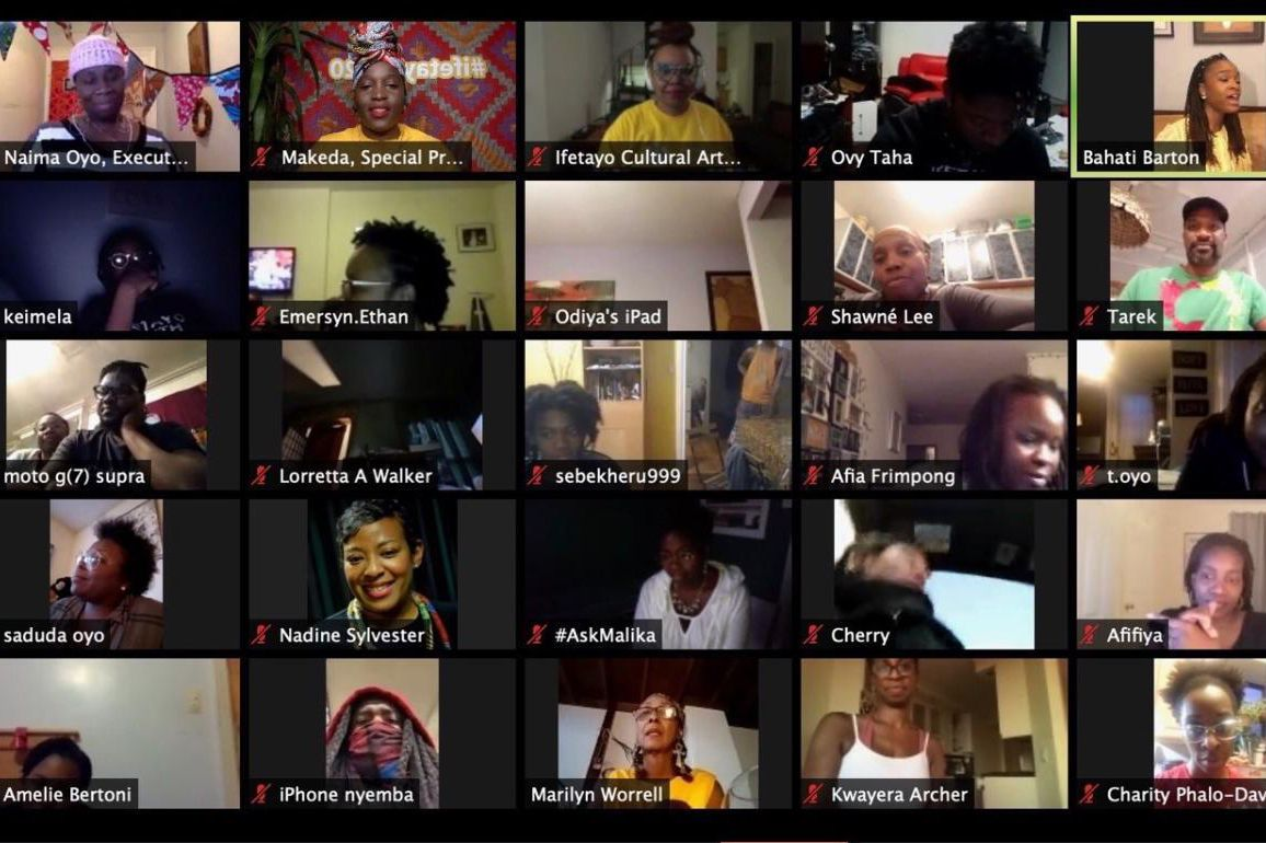 Ifetayo Cultural Arts Academy, which serves mostly African and Caribbean communities in Brooklyn, hosted a Zoom party on National Census Day.