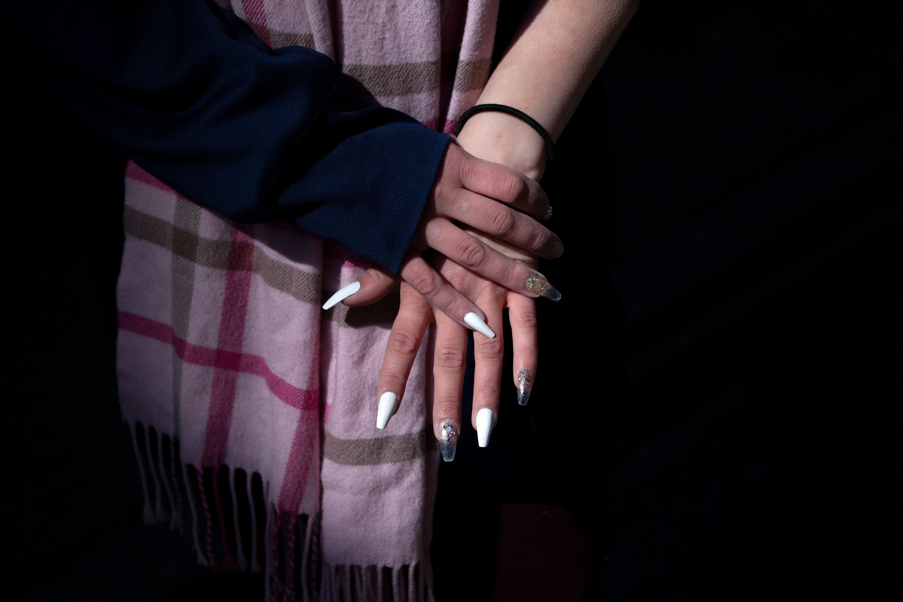 Ashley has become adept at doing her own manicures while battling homelessness.