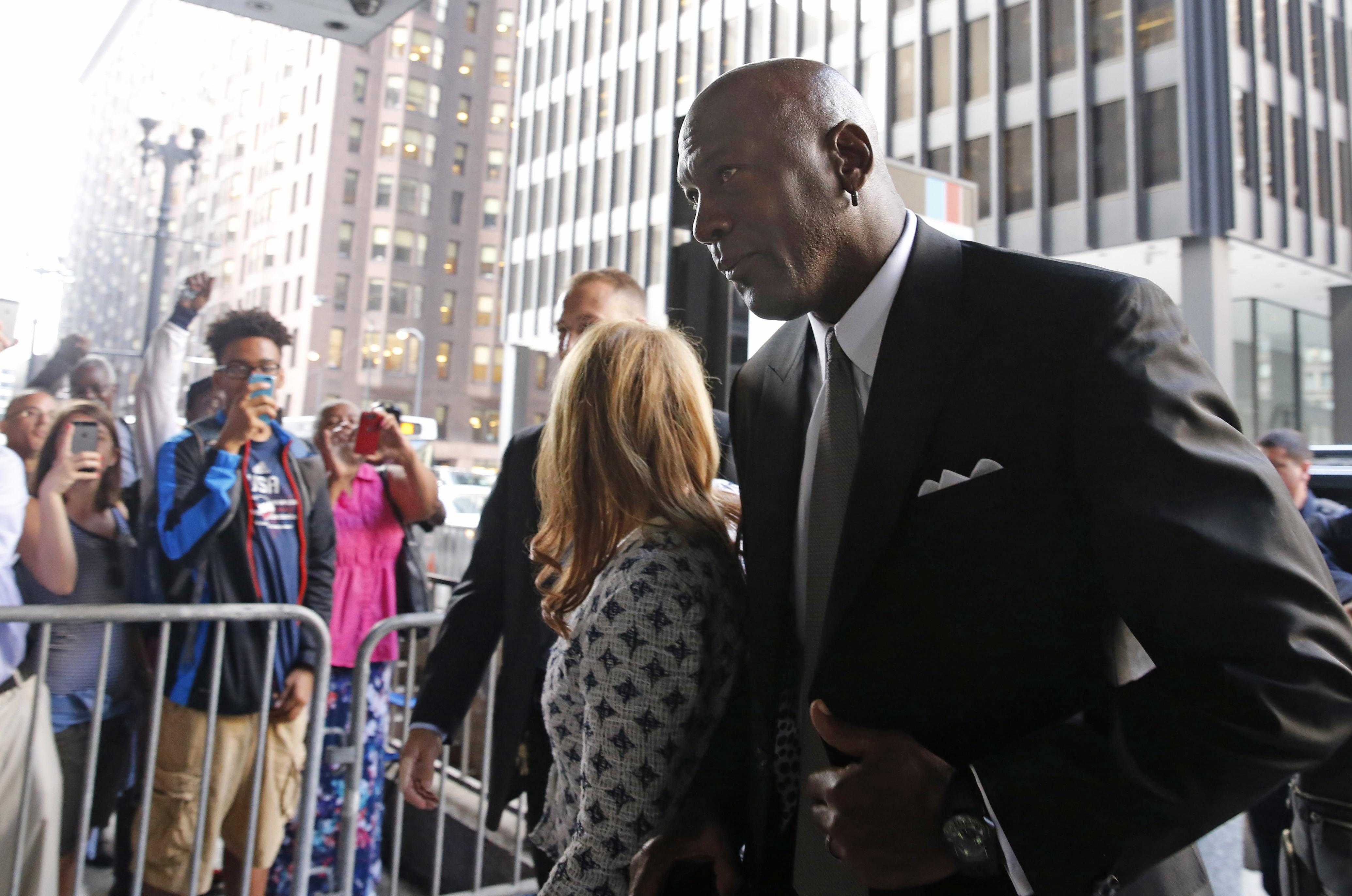 Michael Jordan is shown in a 2015 photo.