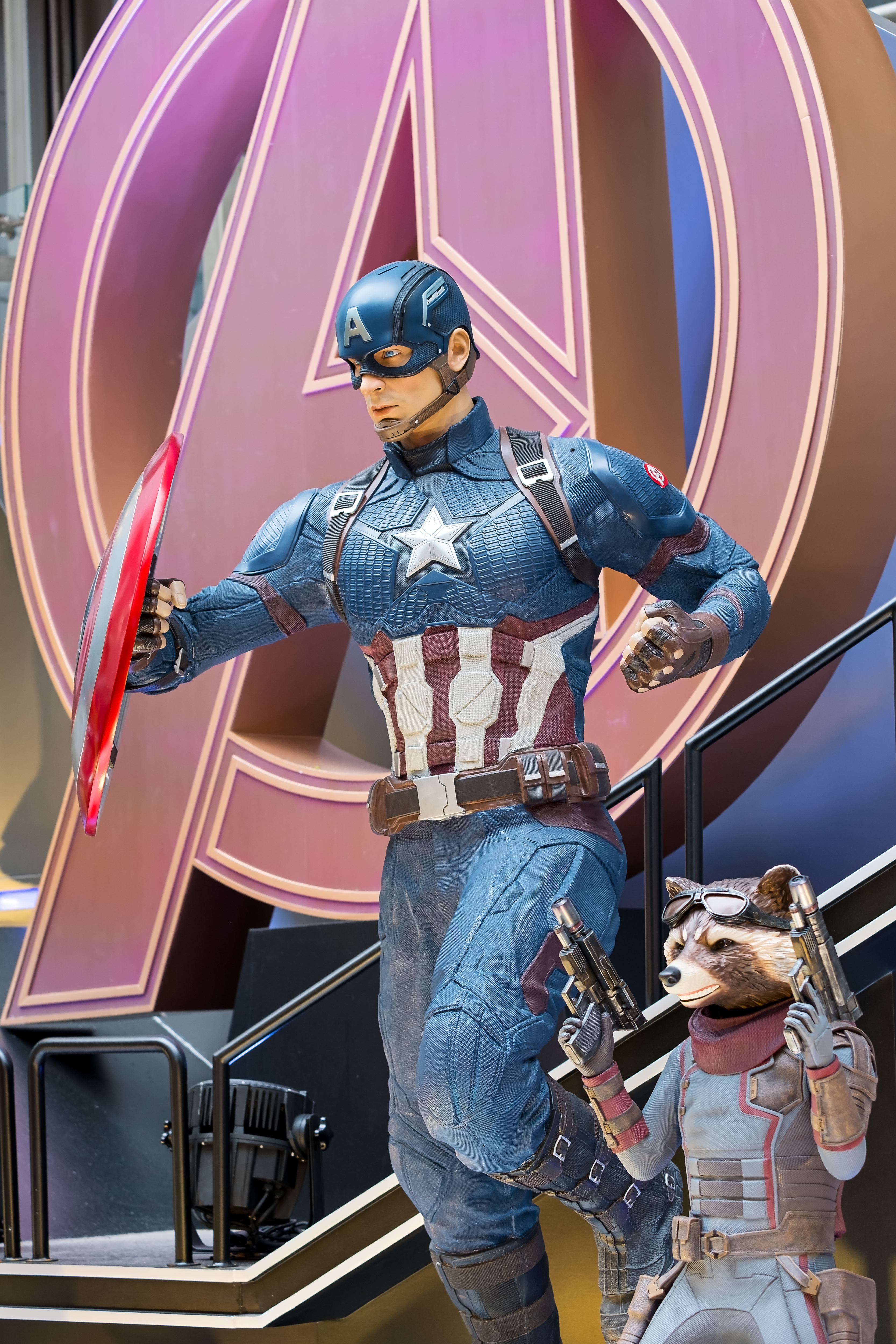 Captain America and Rocket Raccoon are fictional characters...