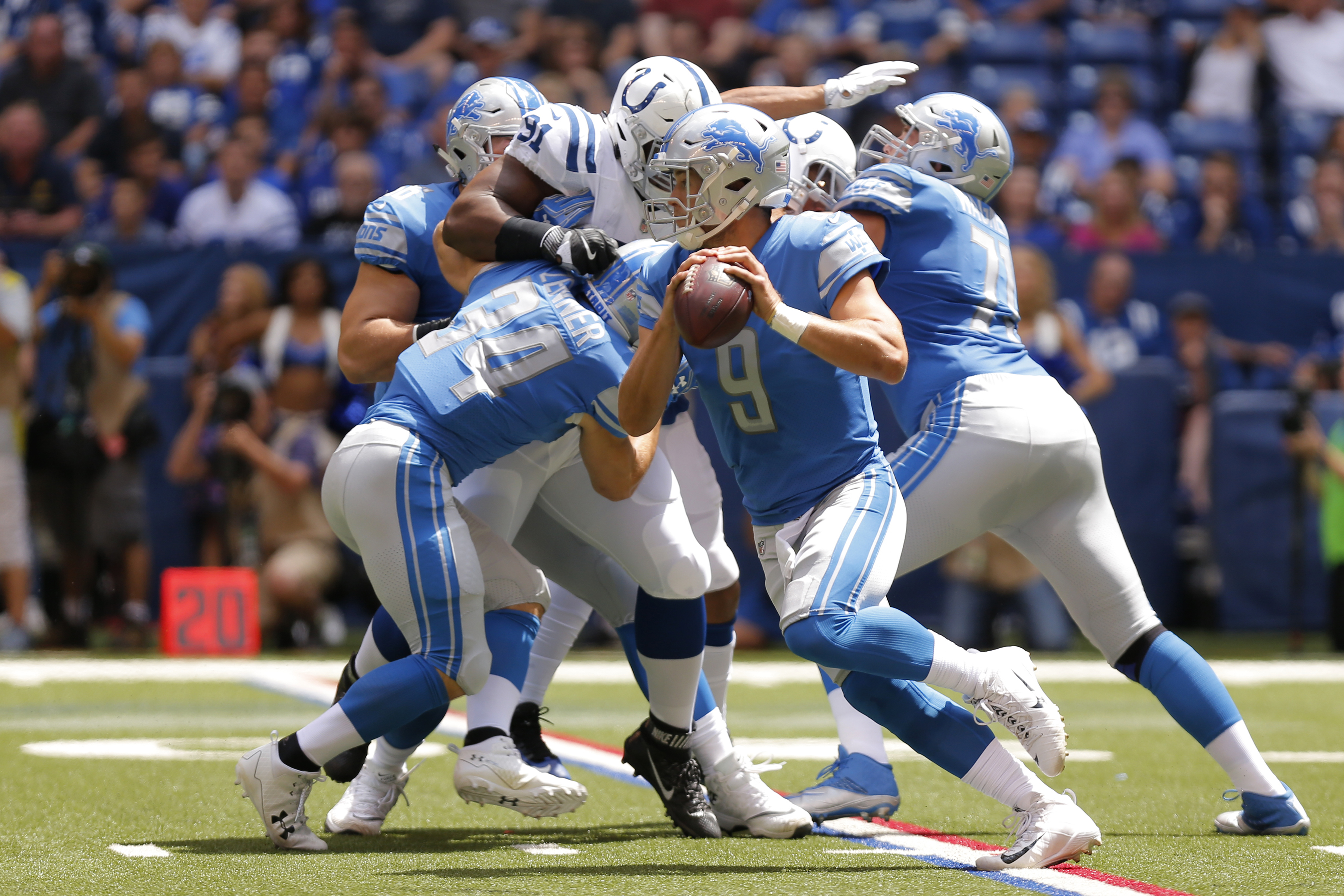 NFL: AUG 13 Preseason - Lions at Colts