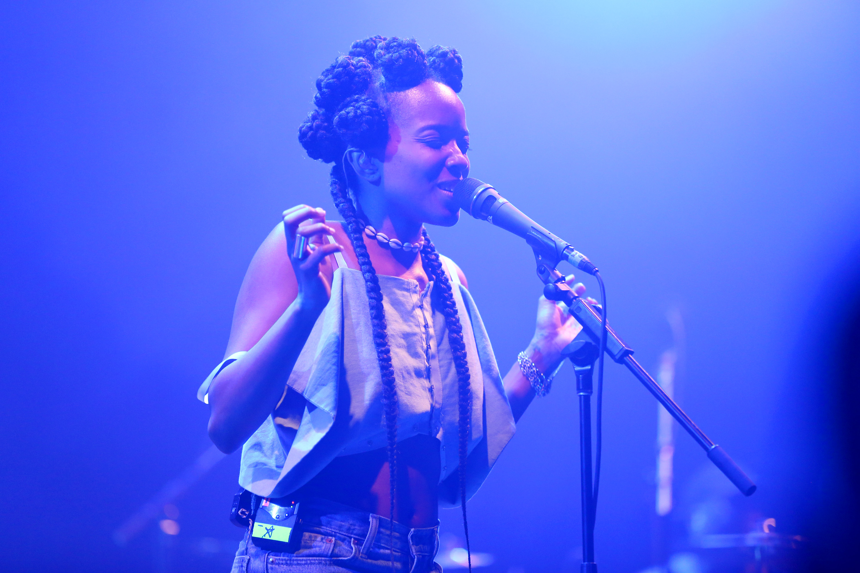 Singer Jamila Woods performs onstage during the 2017 Panorama Music Festival at Randall's Island in New York City.