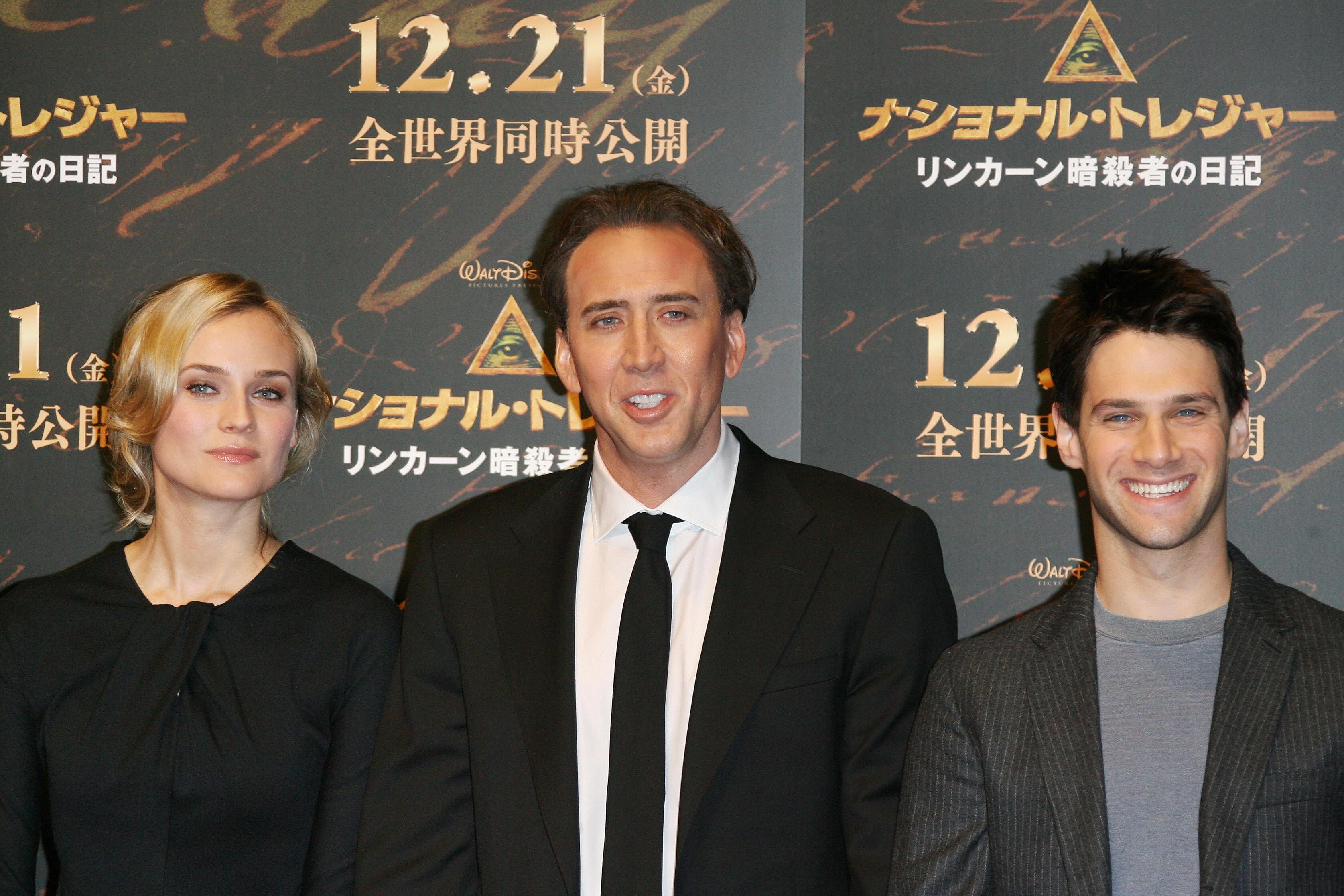 Actor Nicolas Cage (C), actress Diane Kr