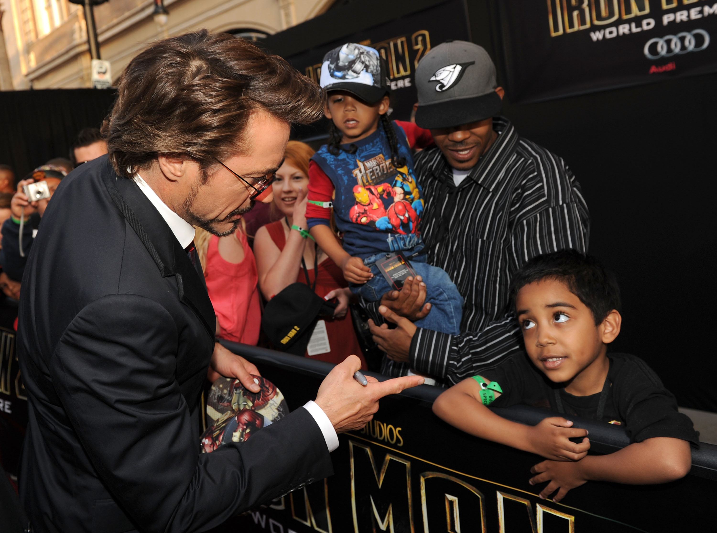 HOLLYWOOD - APRIL 26: Actor Robert Downey Jr. arrives at the world premiere of Paramount Pictures and Marvel Entertainment's Iron Man 2 held at El Capitan Theatre on April 26, 2010 in Hollywood, California.
