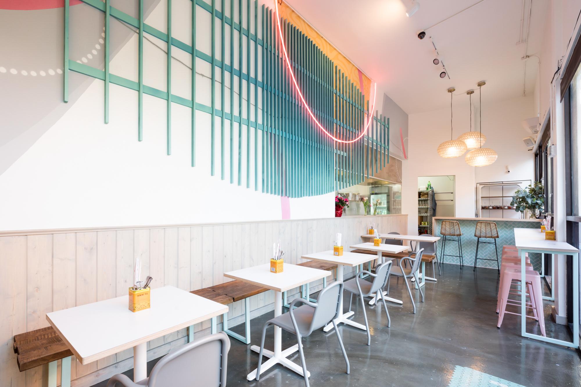 The interior of the restaurant Nyum Bai in Oakland.