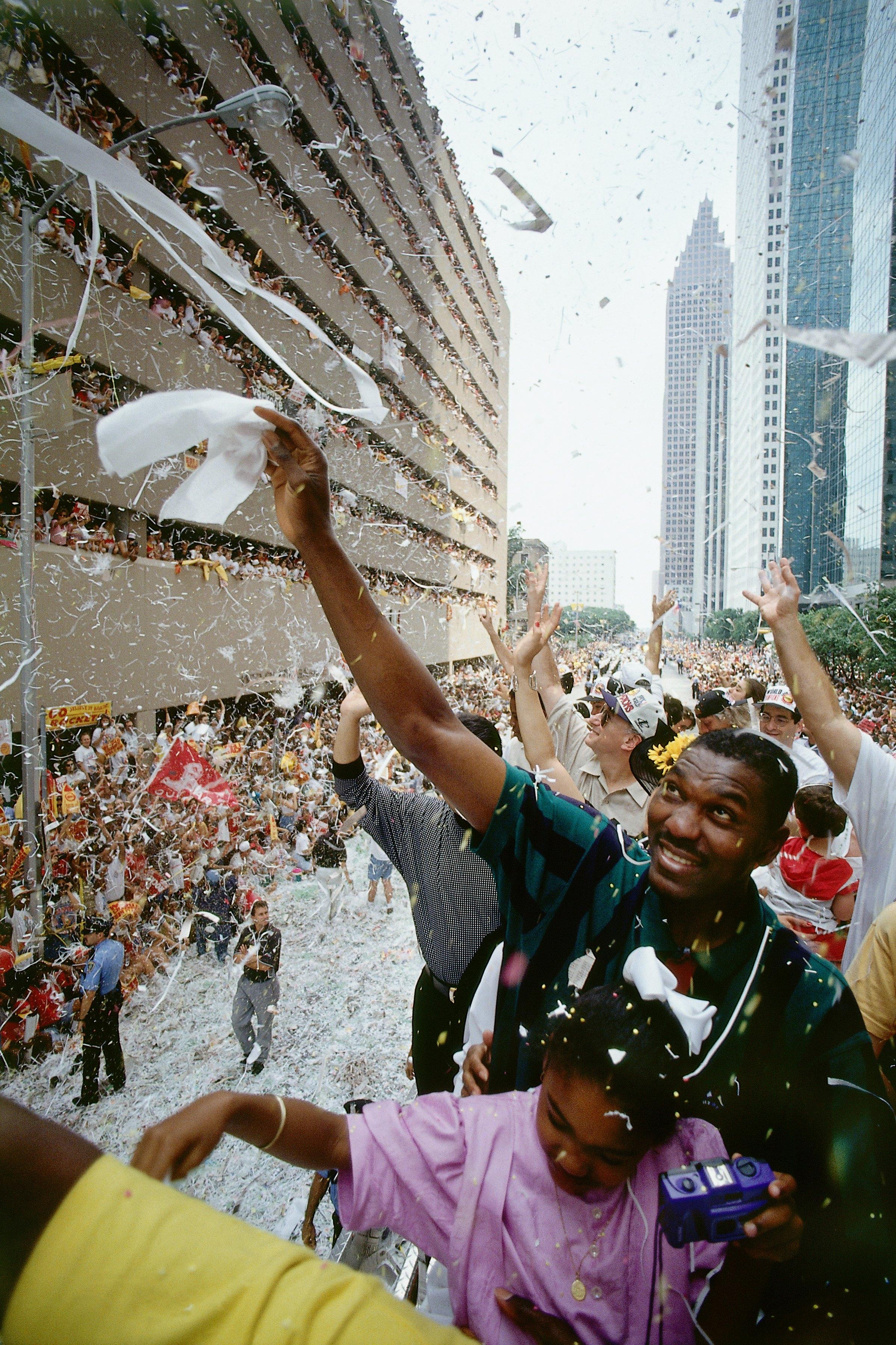 Hakeem Olajuwon Celebration Portrait