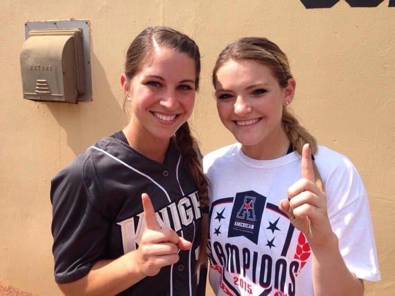 UCF Softball pitchers Mackenzie Audas and Shelby Turnier in 2015