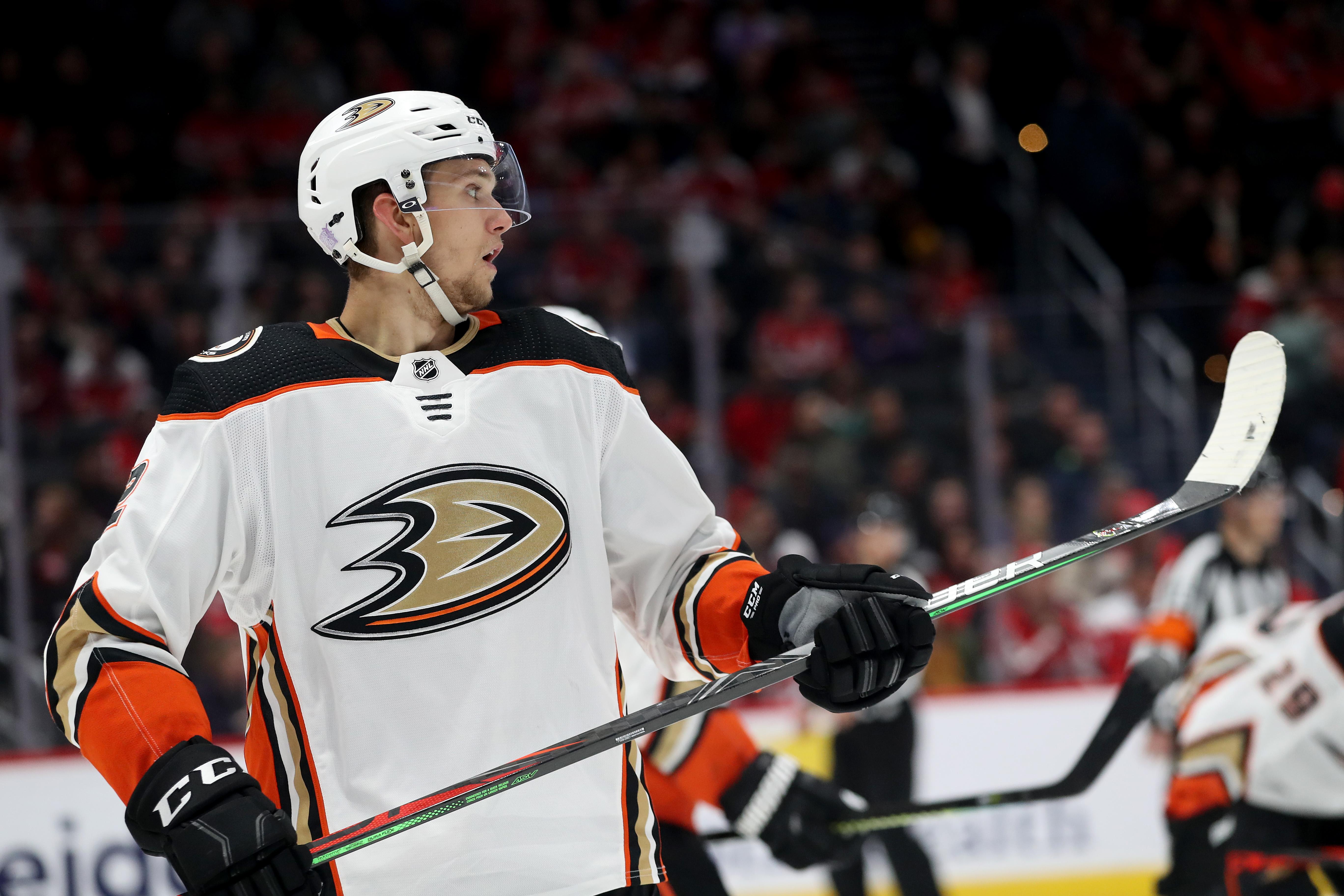 WASHINGTON, DC - NOVEMBER 18: Brendan Guhle #2 of the Anaheim Ducks skates on the ice against the Washington Capitals at Capital One Arena on November 18, 2019 in Washington, DC.