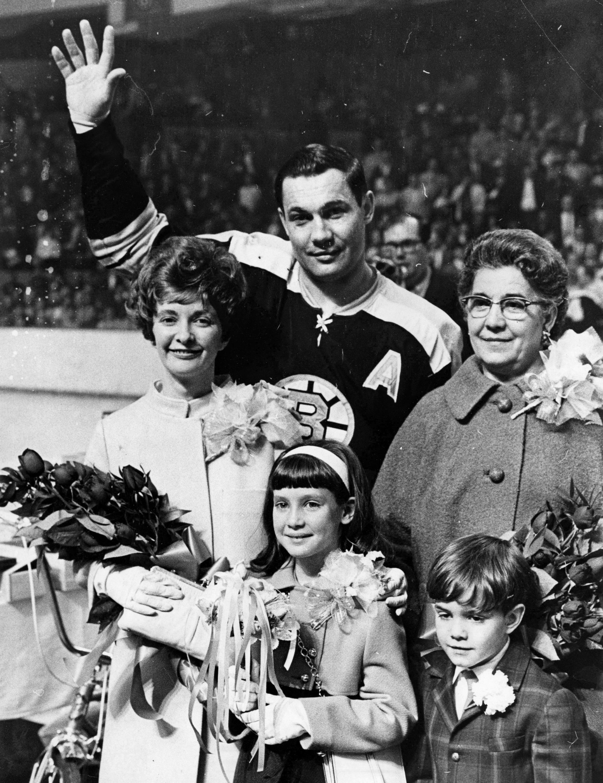 Boston Bruins Johnny Bucyk...