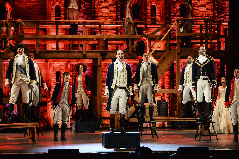 Hamilton performs at the 2016 Tonys