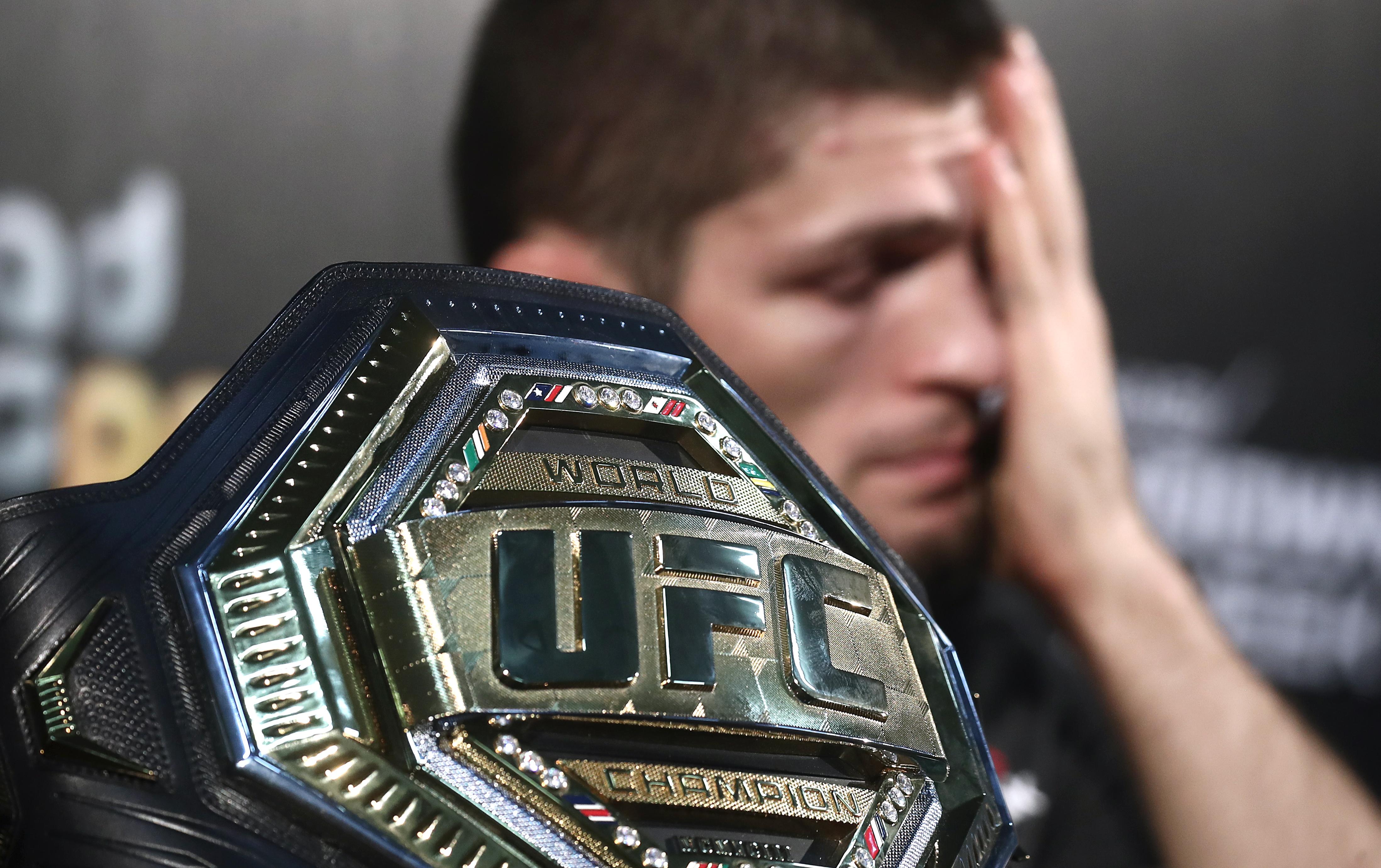UFC lightweight champion Nurmagomedov defends his title