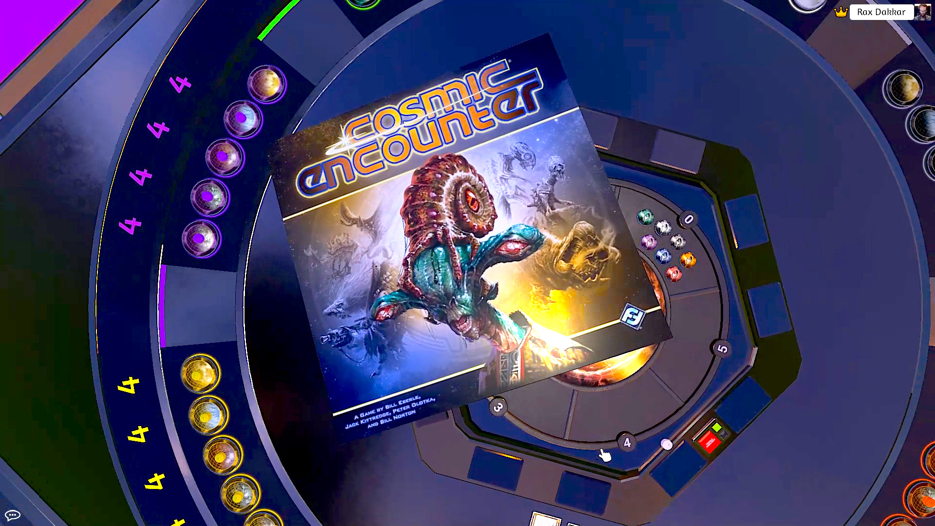 A virtual Cosmic Encounter board game box