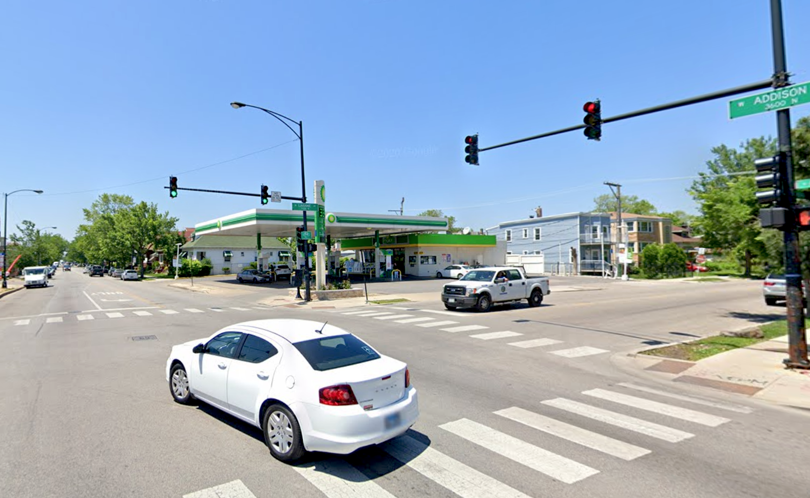 Authorities responded May 13, 2020, to a crash at Addison Street and Laramie Avenue.