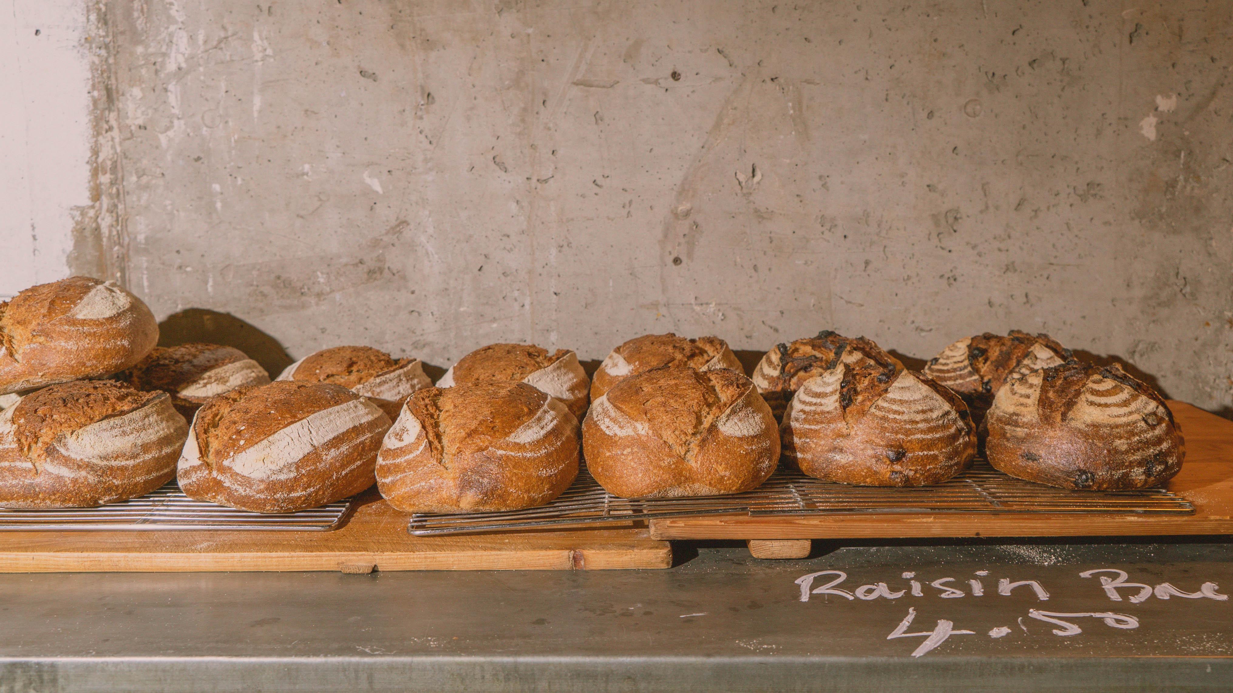 Raisin bread at Jolene bakery, restaurant and wine bar in Newington Green, London
