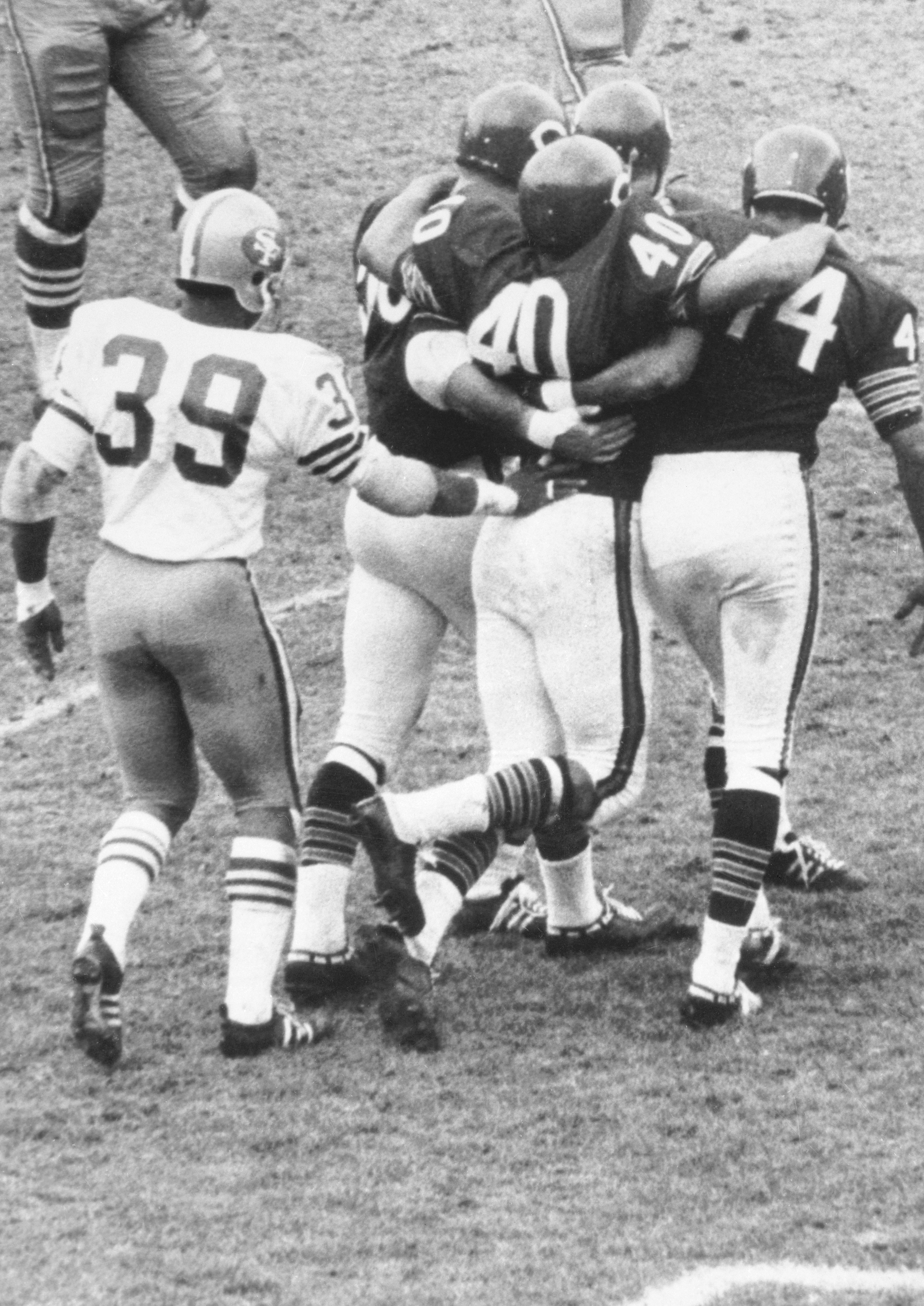 Chicago's Gale Sayers After Being Injured During a Game Against the 49ers