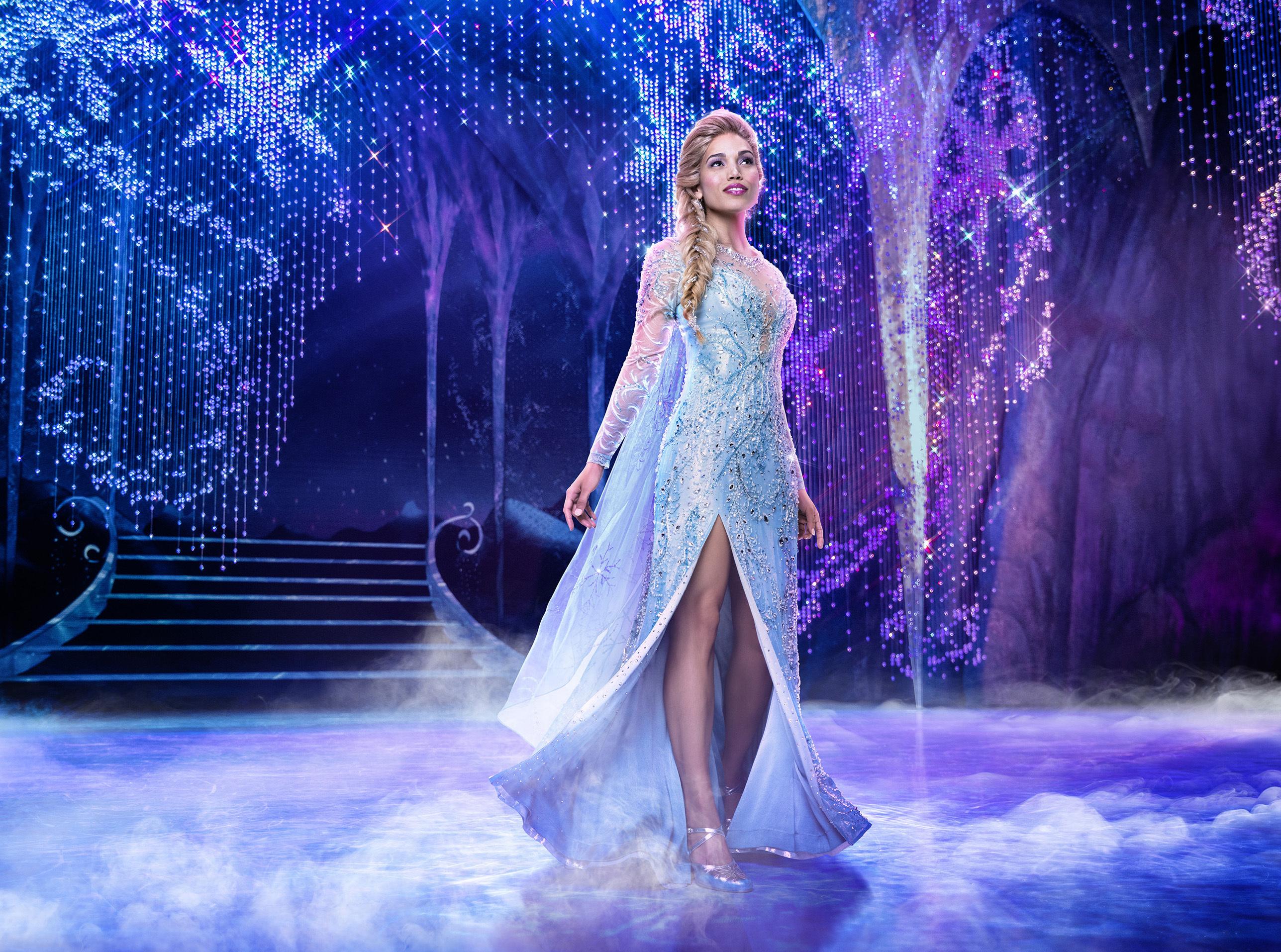 "Ciara Renee stars as Elsa in the Broadway musical ""Frozen."""
