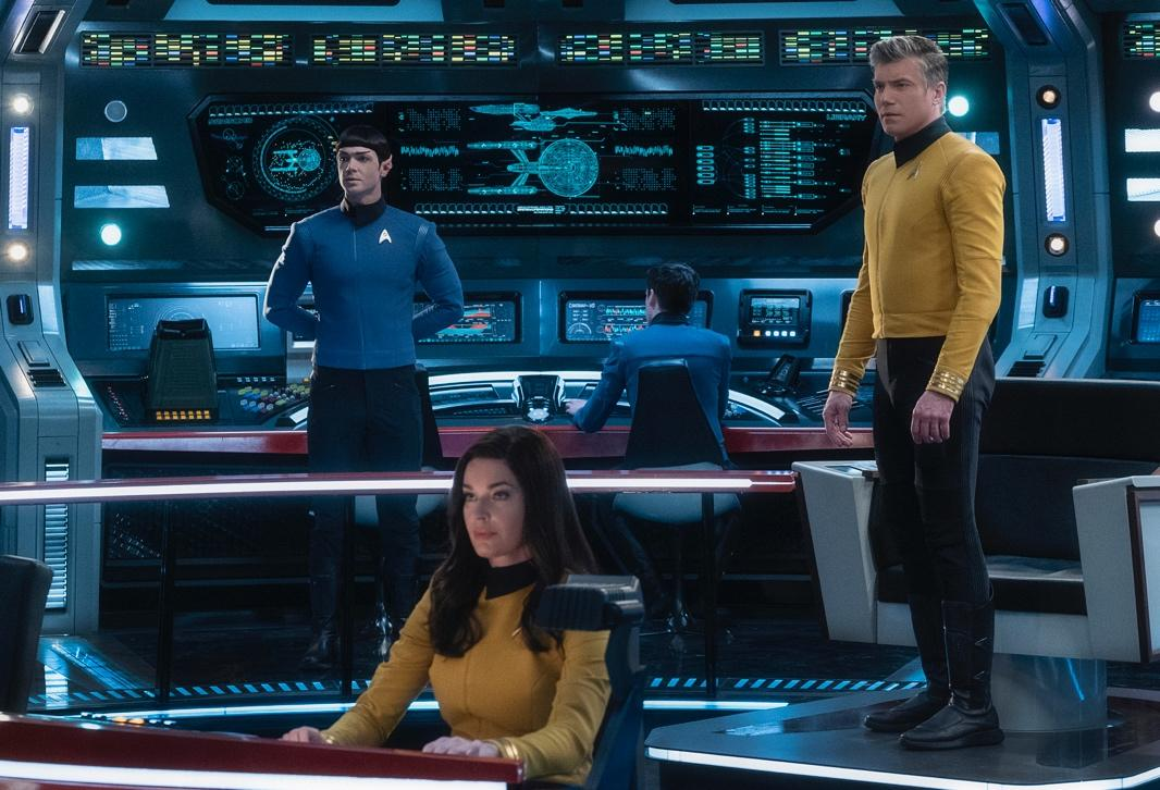 Pike, Spock, and Number One from Star Trek: Discovery and Star Trek: Strange New Worlds