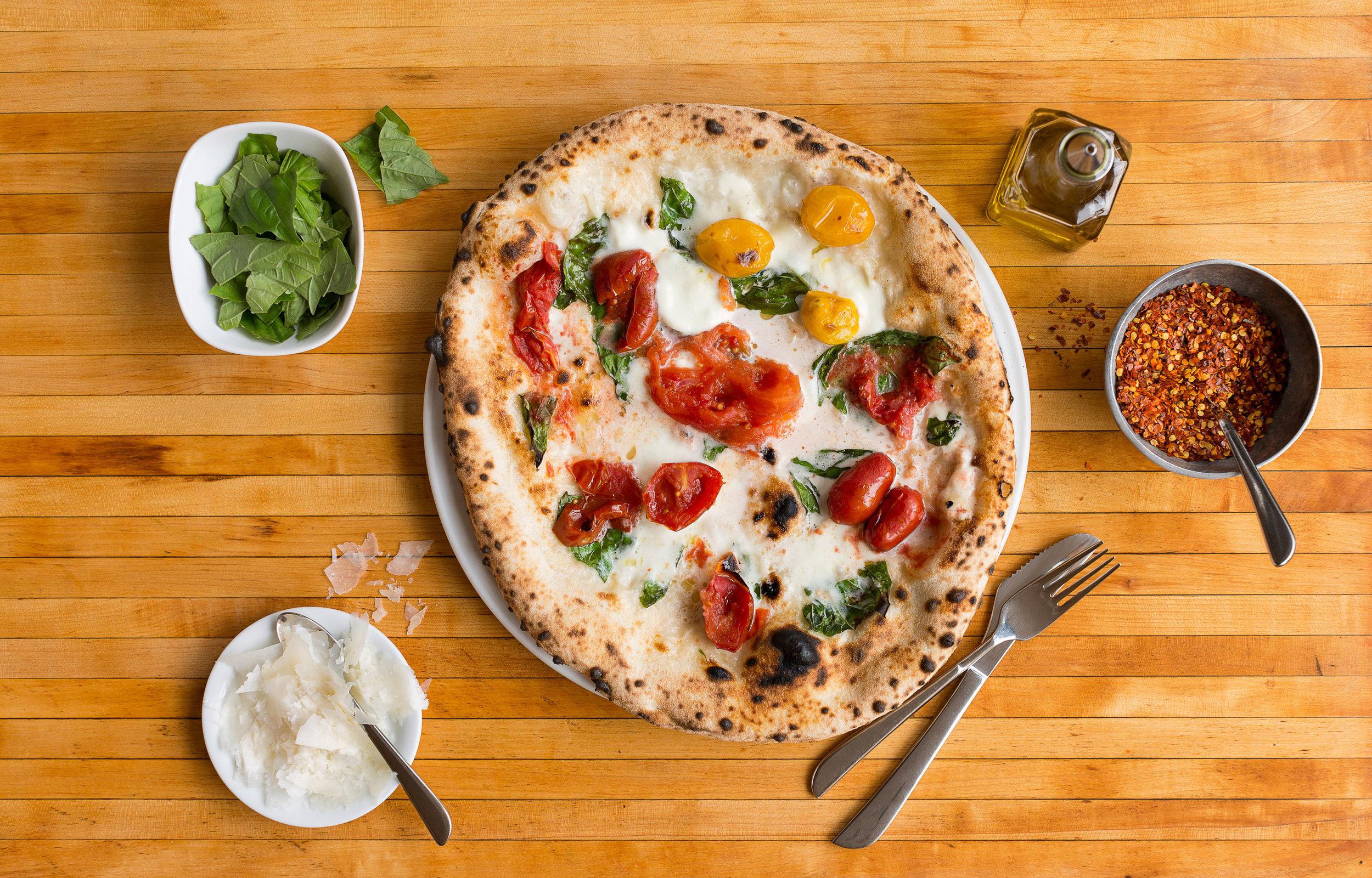 A Neopolitan pizza
