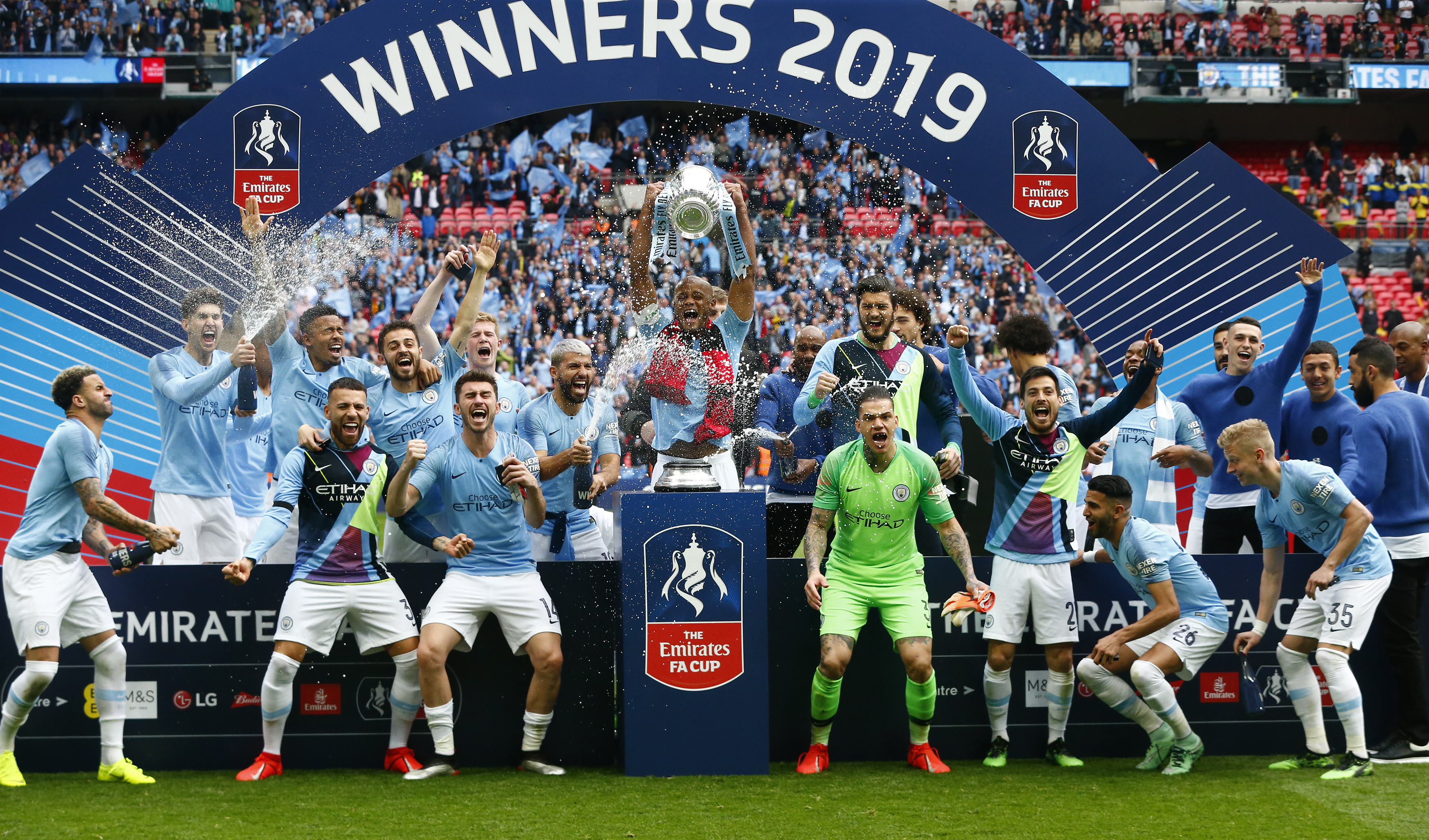 Manchester City and Watford - FA Cup Fina