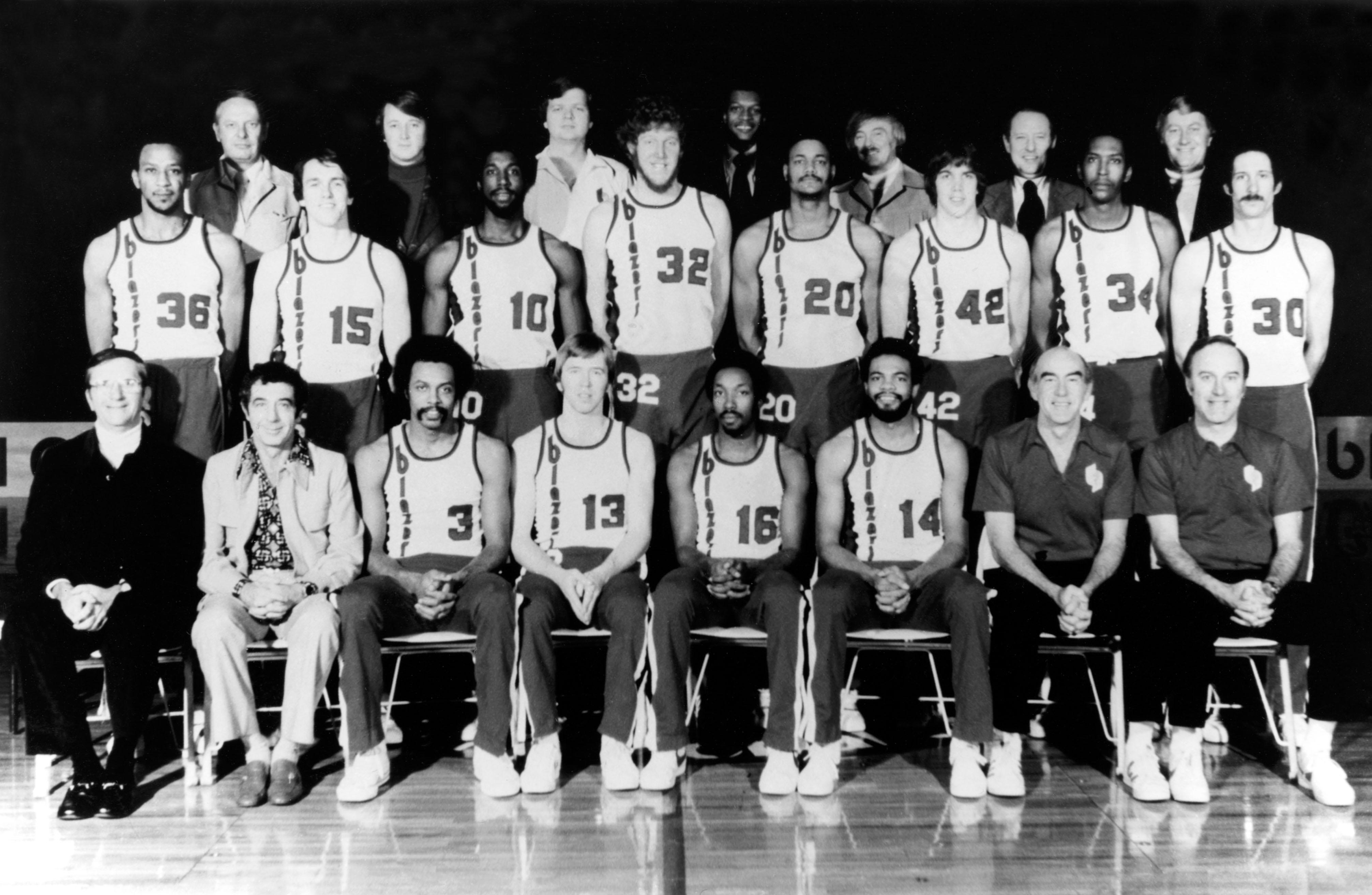 1977 Portland Trail Blazers team photo
