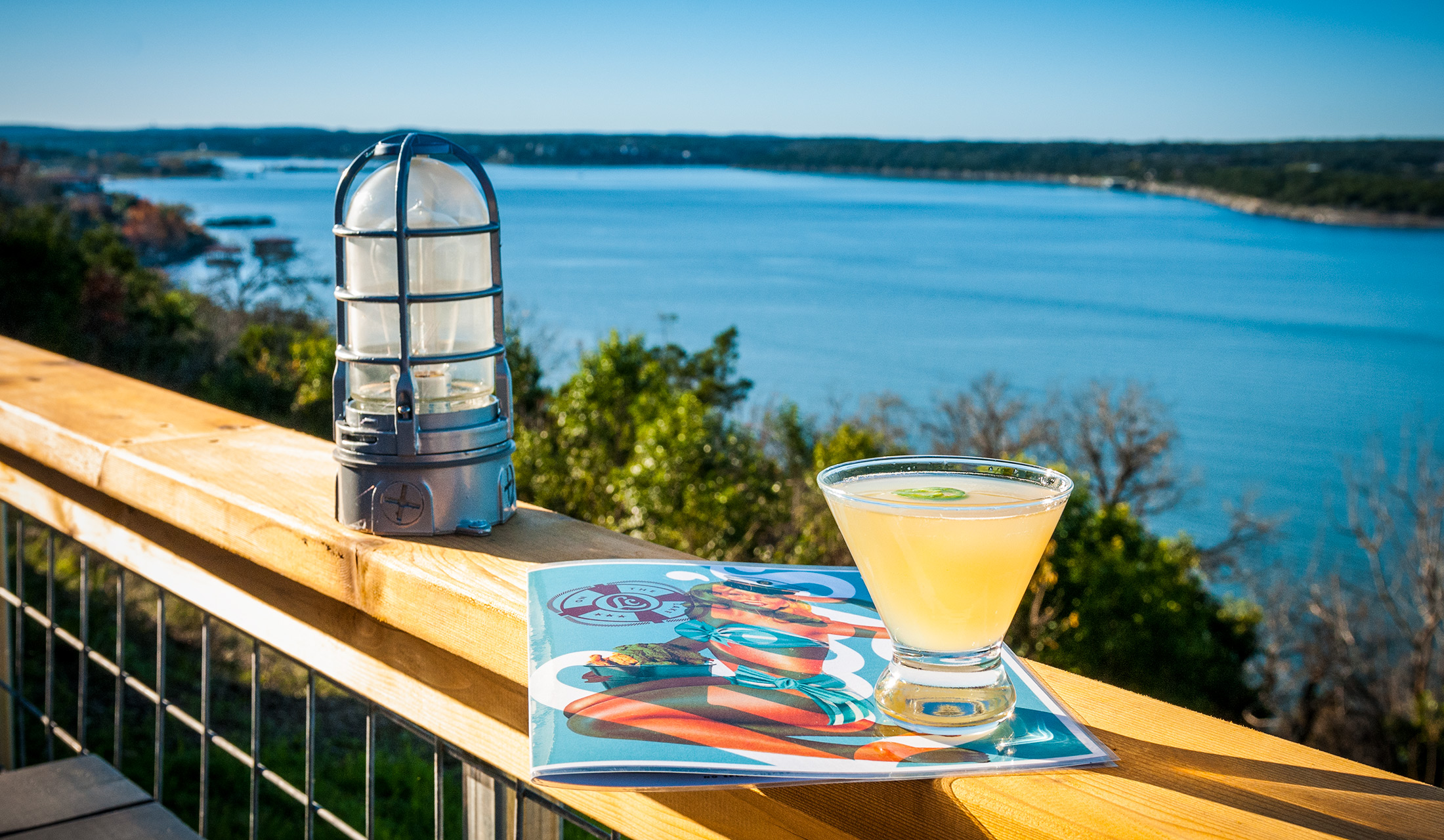 Lakeside cocktail from Lucy's on the Lake