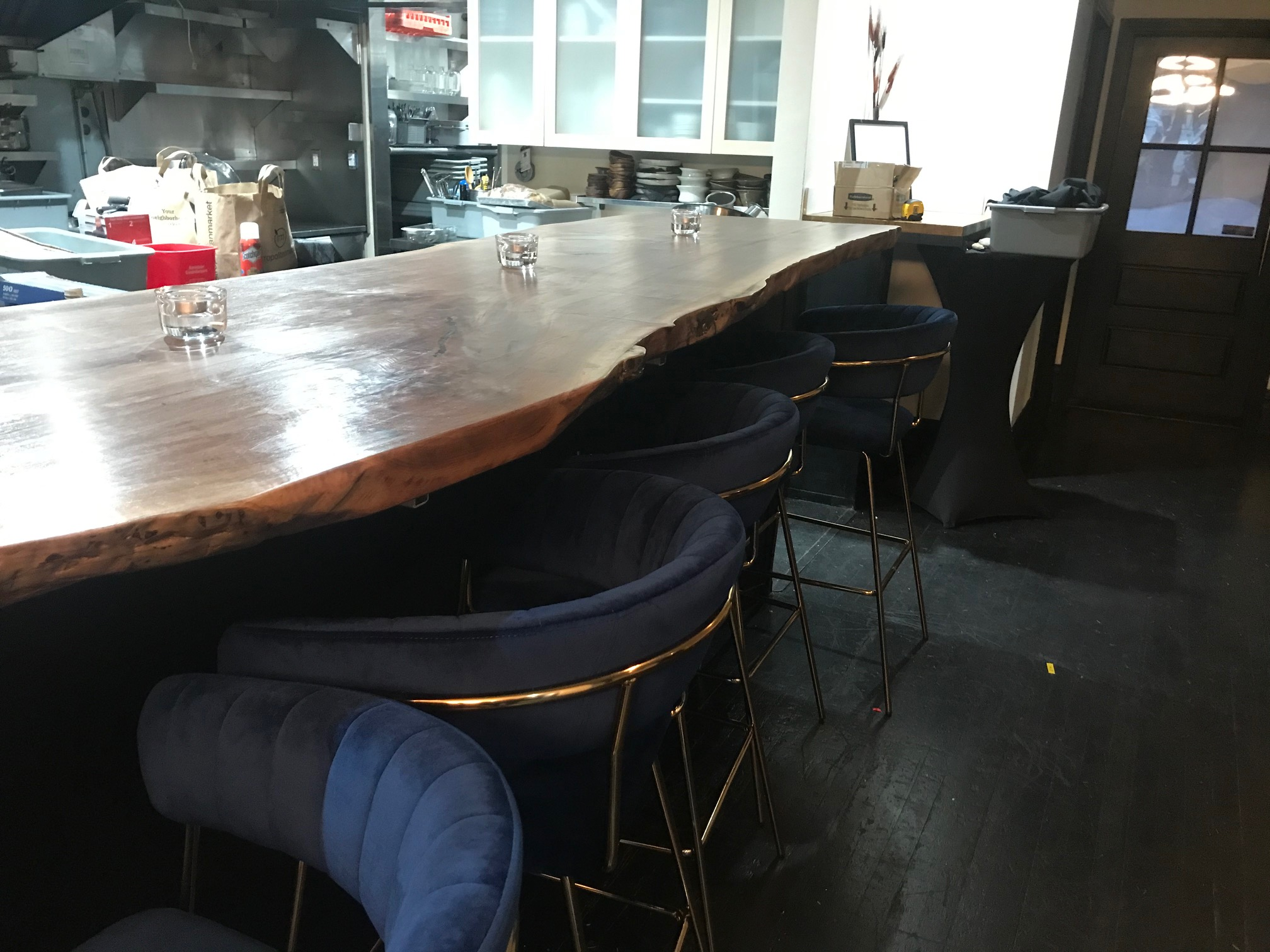 A view of Surrell's chef's counter