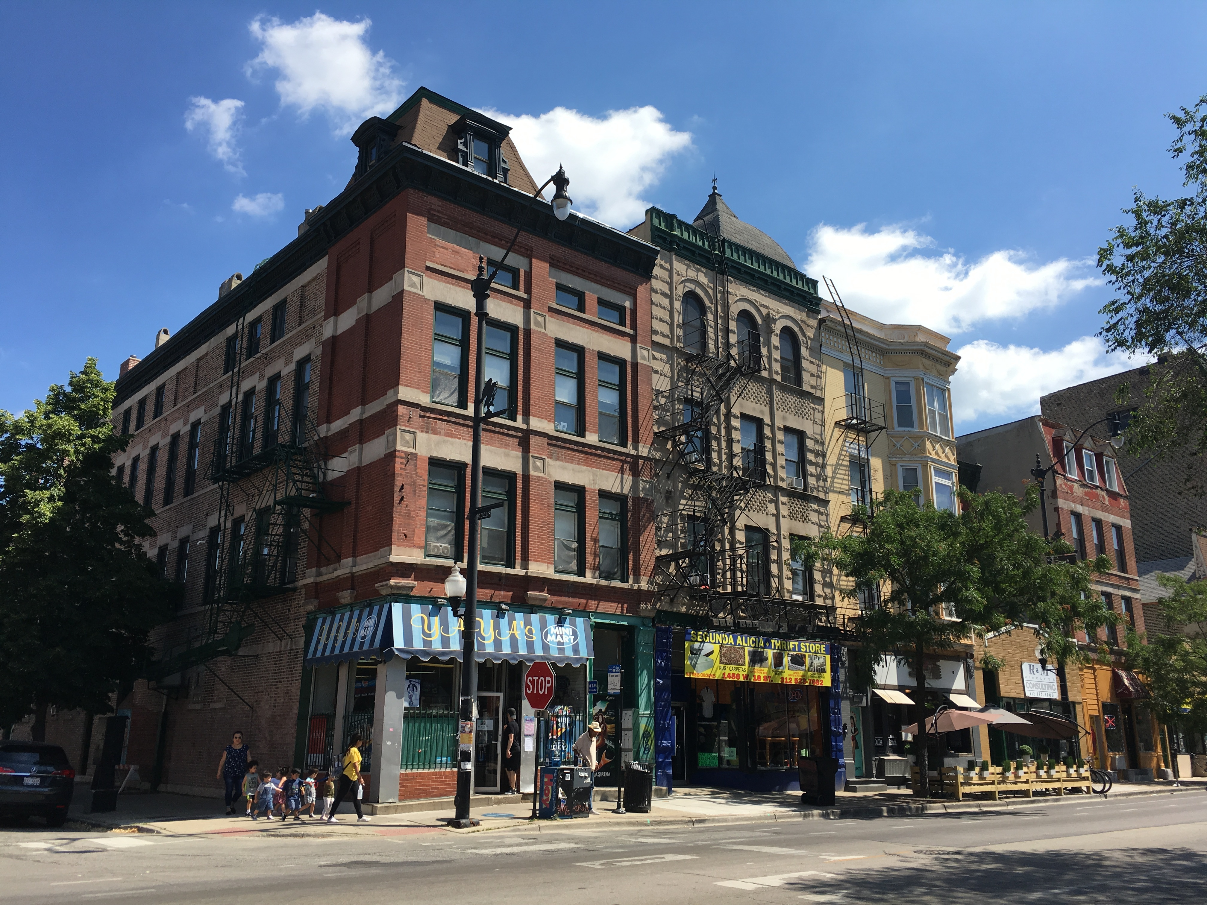 These three buildings at 18th and Laflin streets would have been among hundreds included in a proposed Pilsen Landmark District.