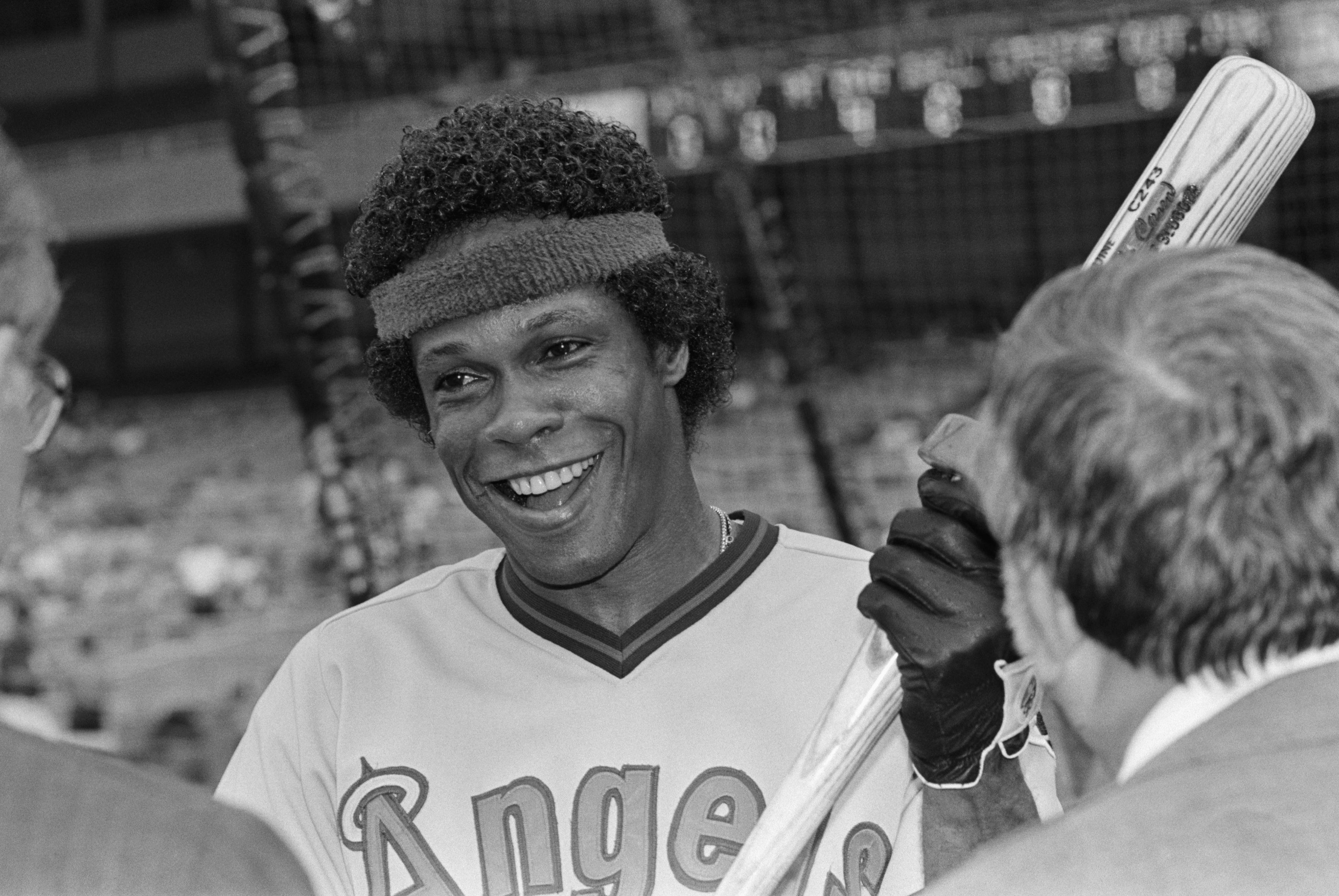 Baseball Player Rod Carew Holding Bat