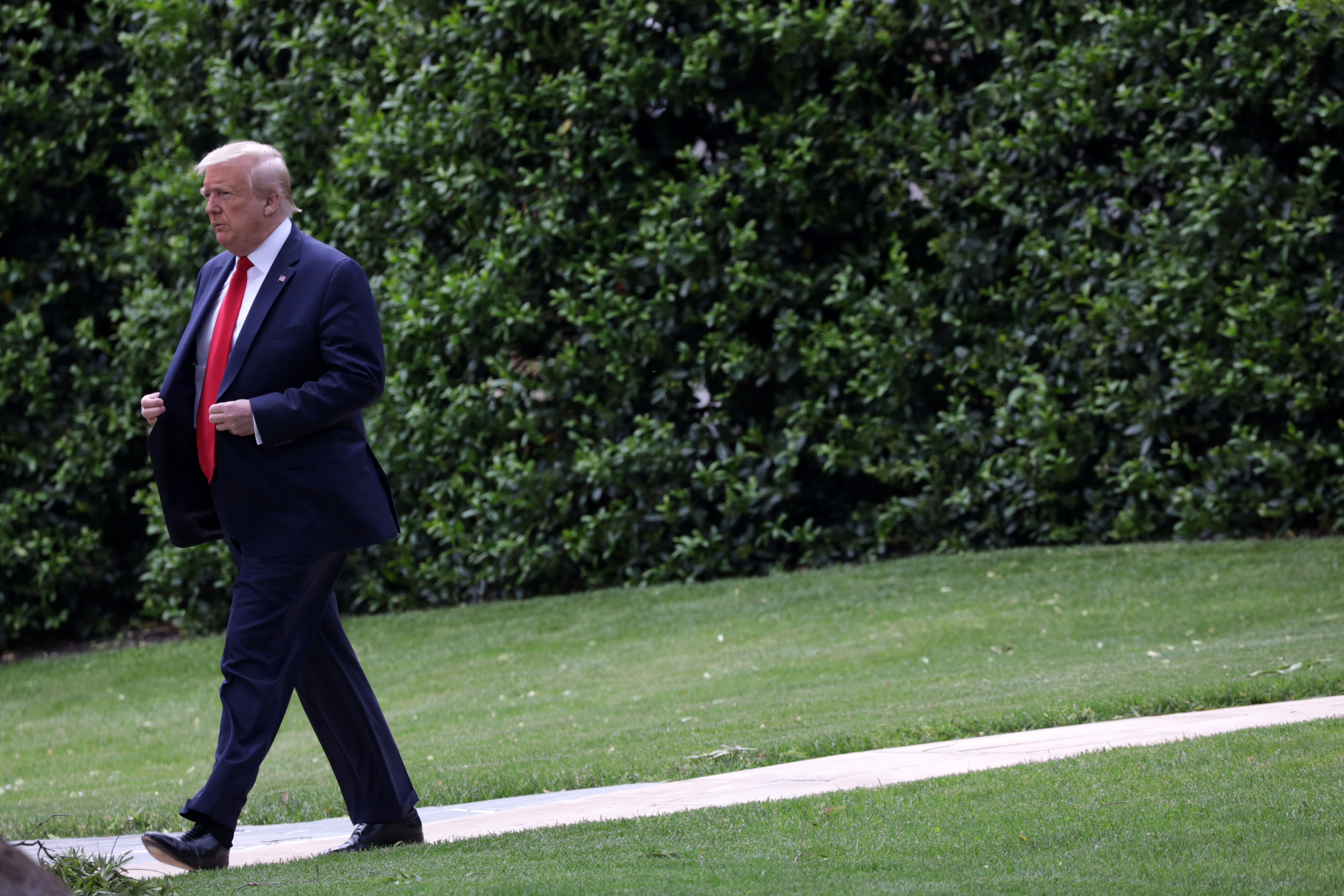 President Trump Departs White House For Ford Factory In Michigan