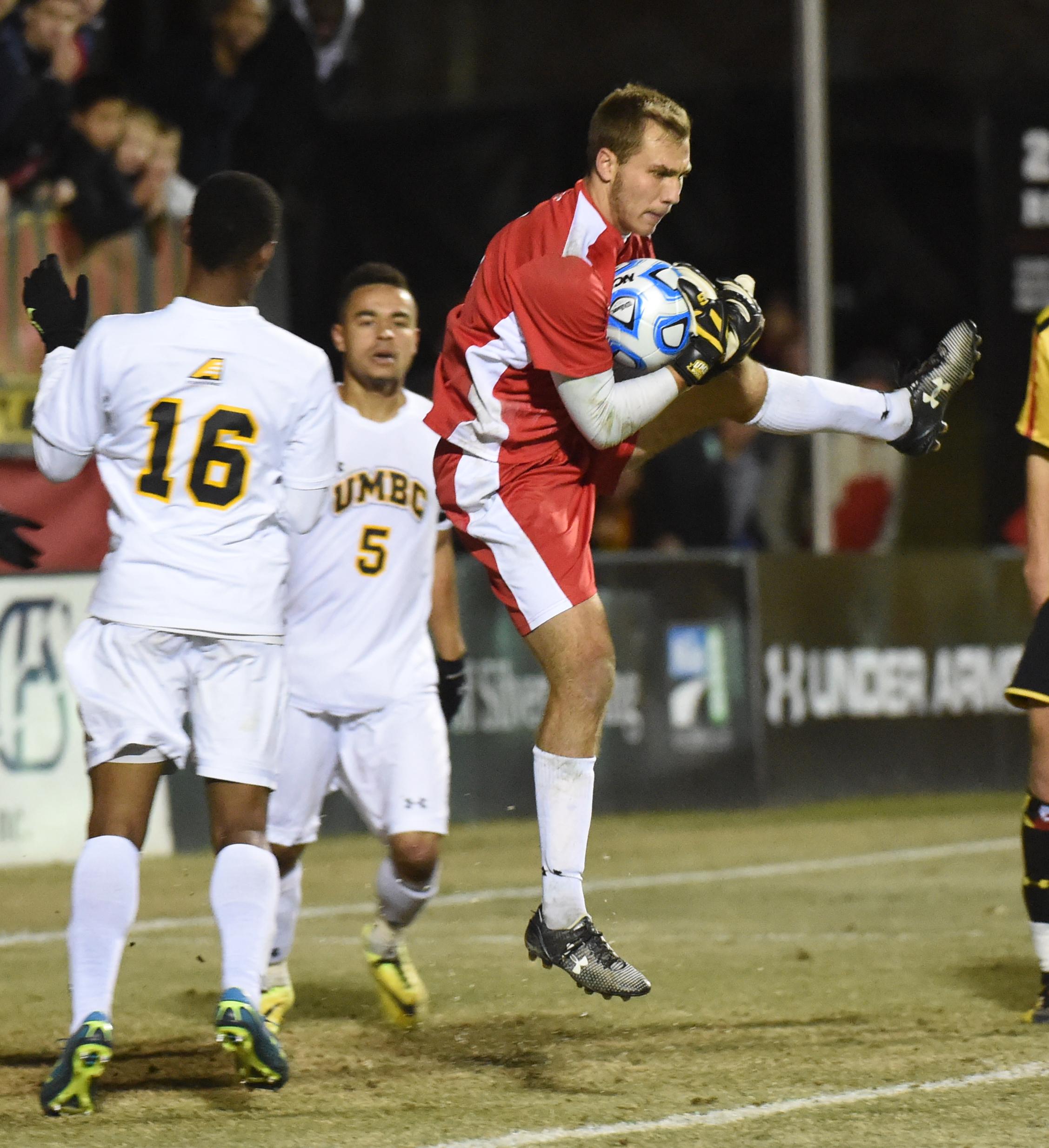 NCAA NCAA men's soccer tournament. UMBC at Maryland