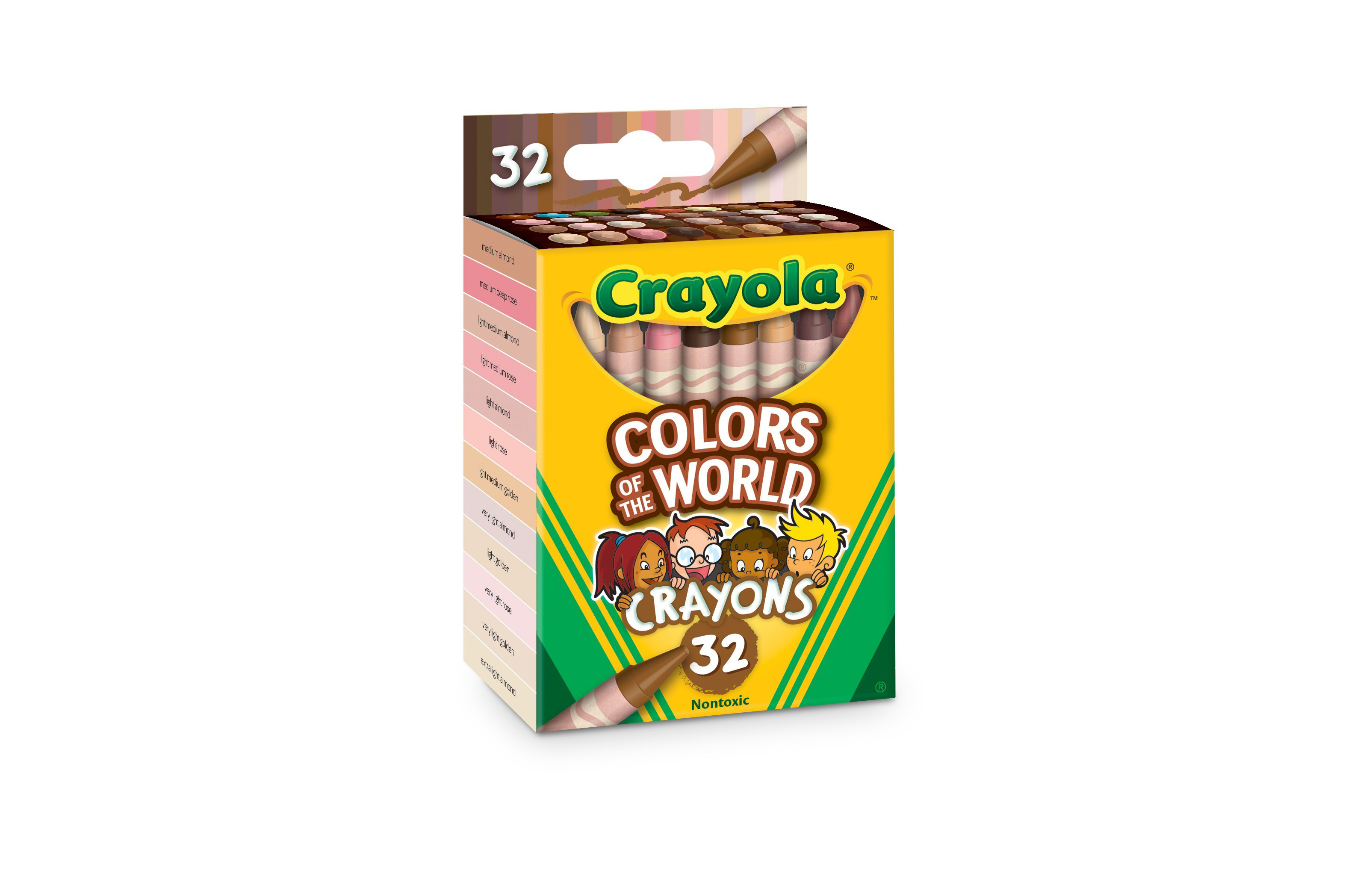 """Colors of the World"" crayons includes 24 new crayons designed to mirror and represent over 40 different skin tones."