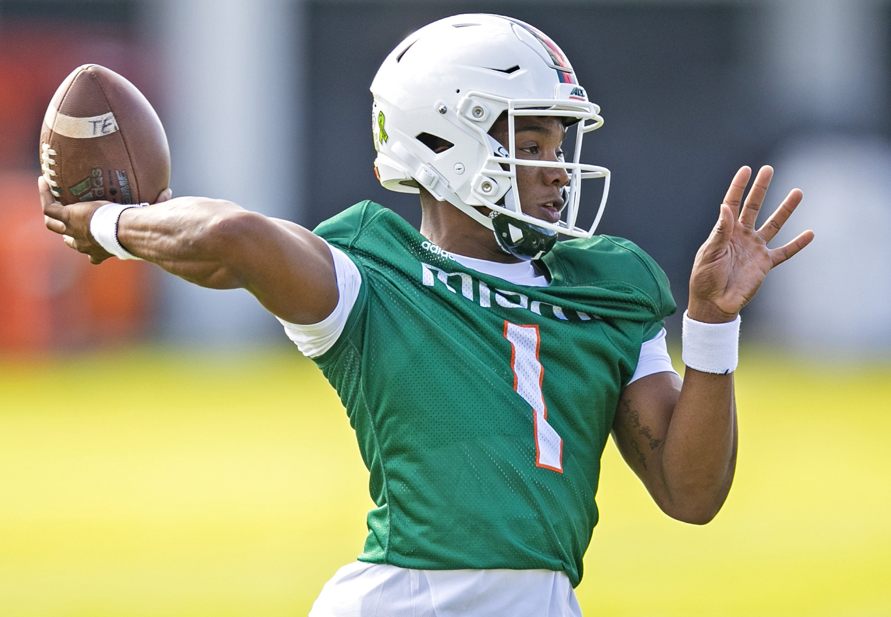 Miami Hurricanes football practice