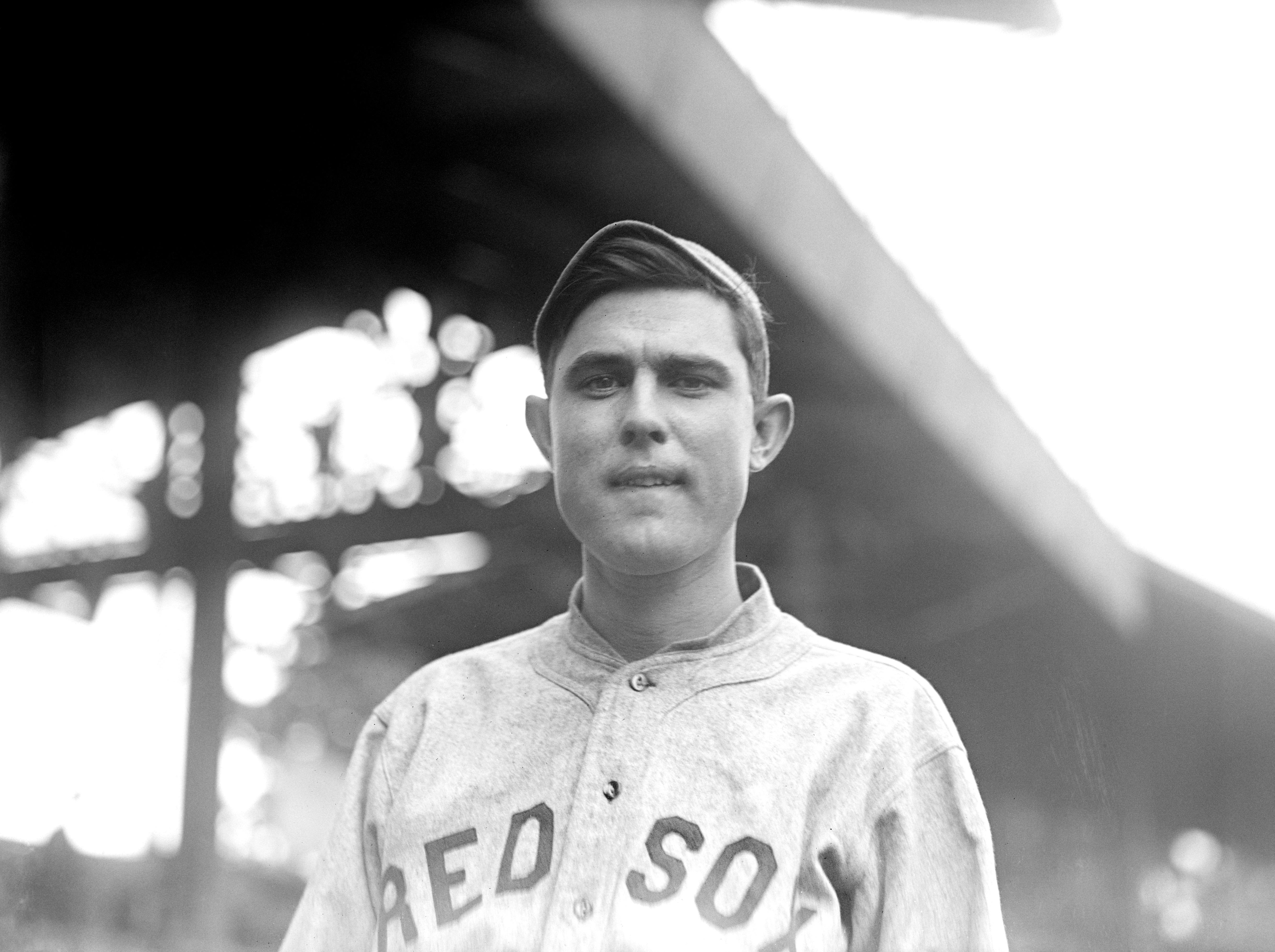 Ernie Shore, Major League Baseball Player, Boston Red Sox, Portrait, circa 1915
