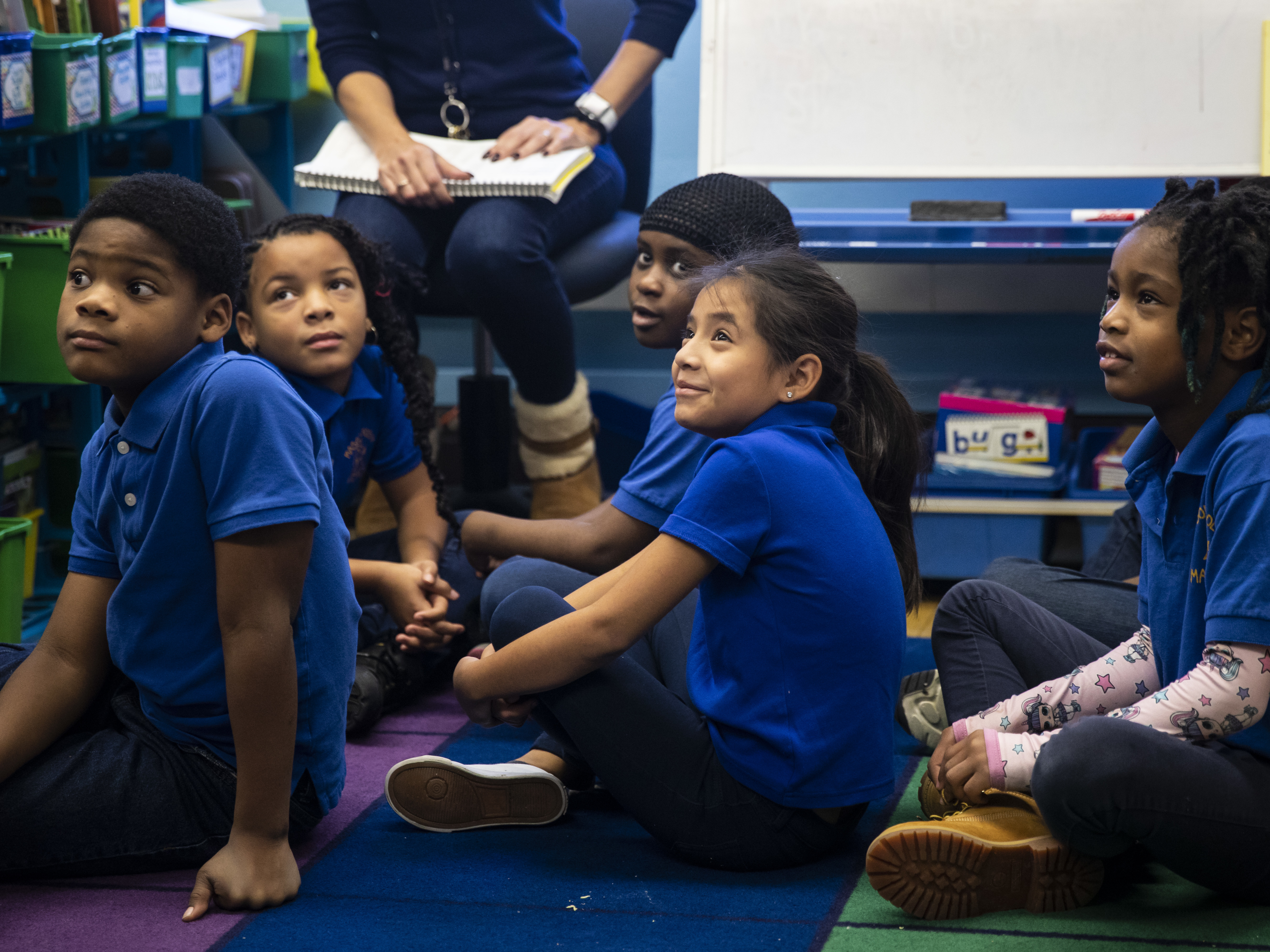 Second-graders at Mason Elementary School on the Southwest Side.