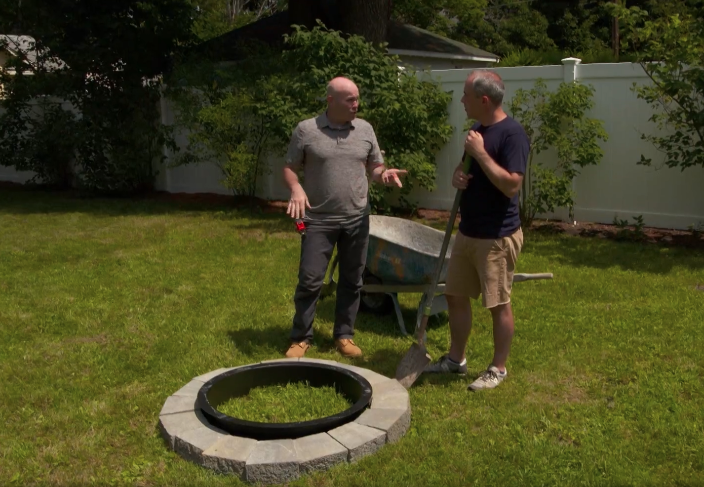 Building a fire pit from a kit