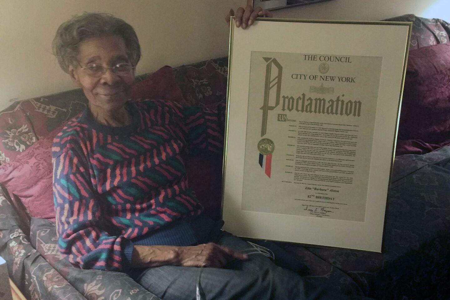 Brooklyn resident Etta Alston died of coronavirus on April 4.