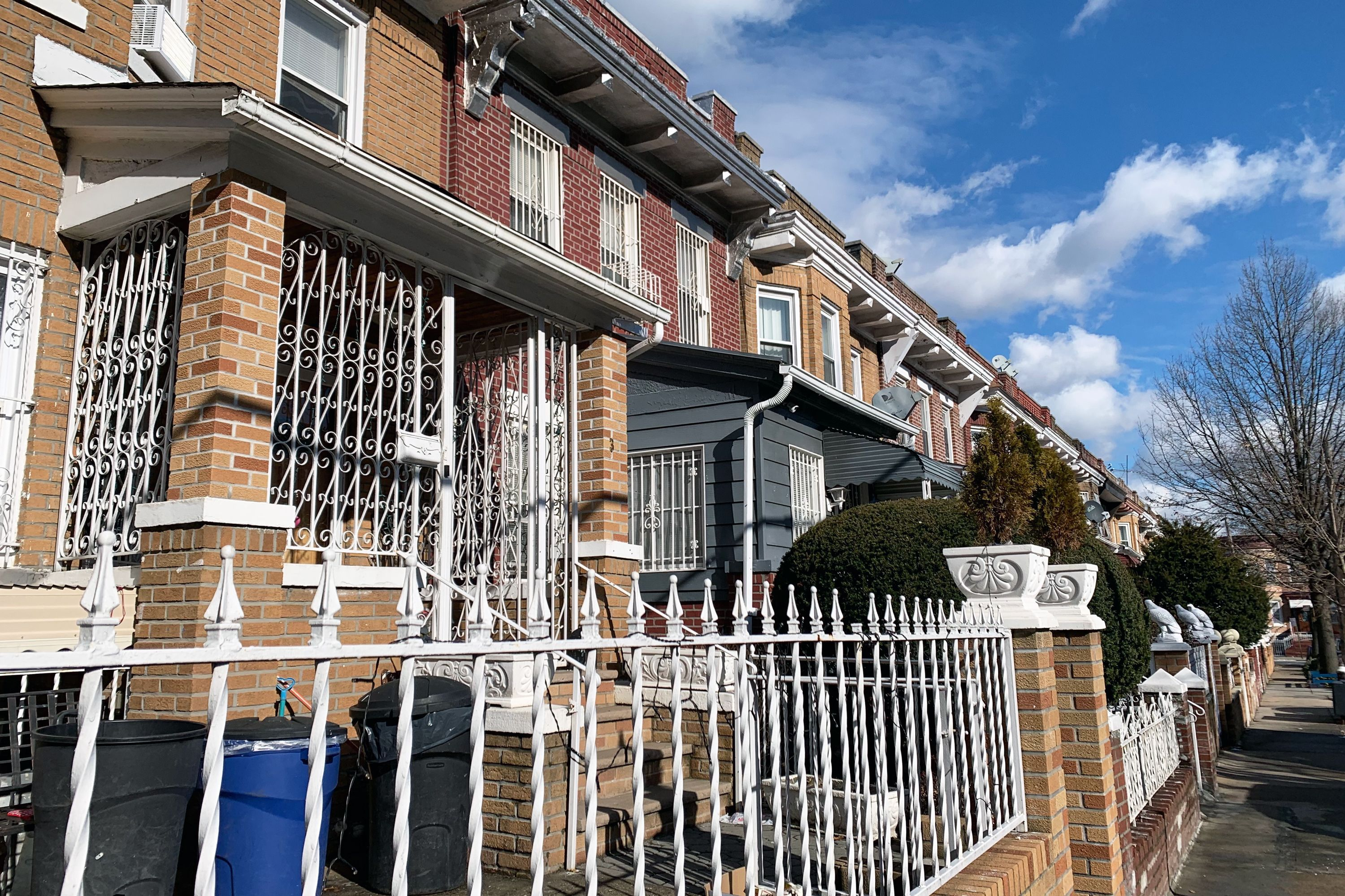 A row of houses in East New York.