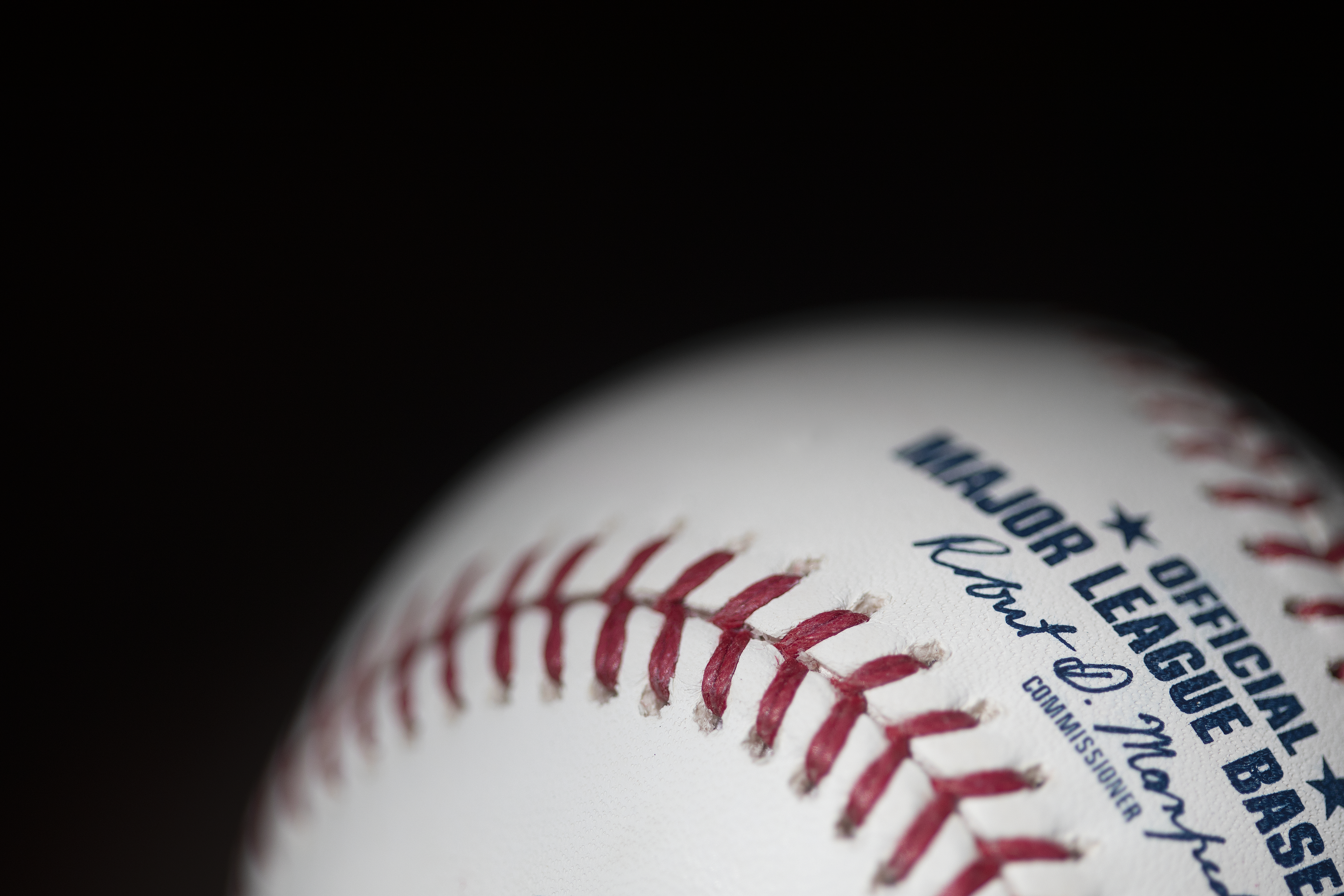 An official Rawlings Major League Baseball for the 2020 Major League Baseball season.