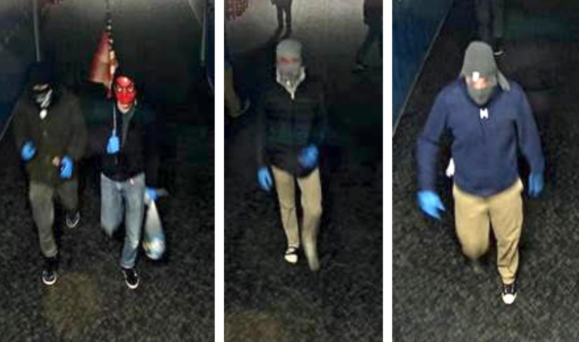 Police released surveillance video stills that allegedly show burglars in Madison Jr. High School on May 19, 2020.
