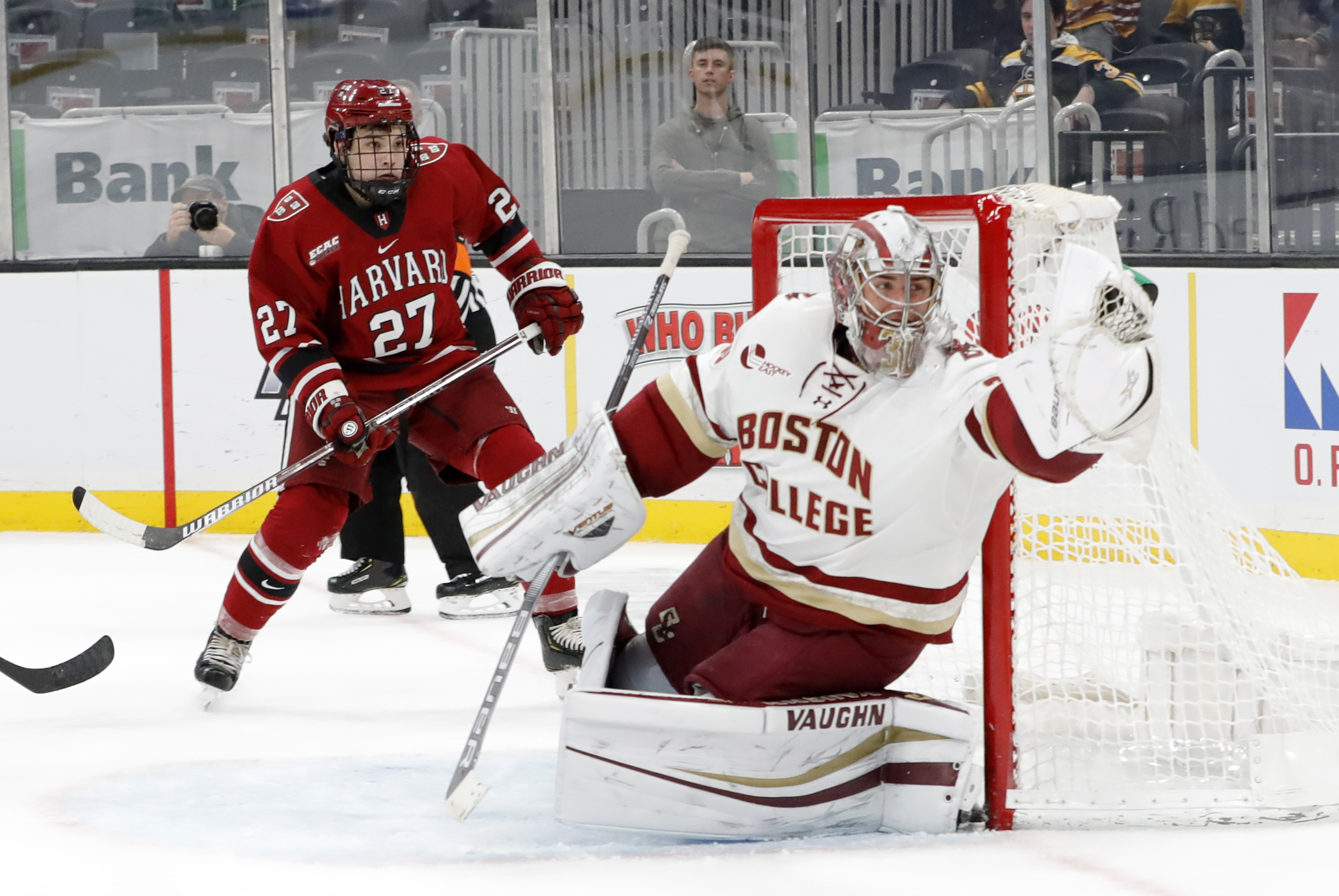 COLLEGE HOCKEY: FEB 10 Beanpot Tournament - Consolation Game - Boston College v Harvard