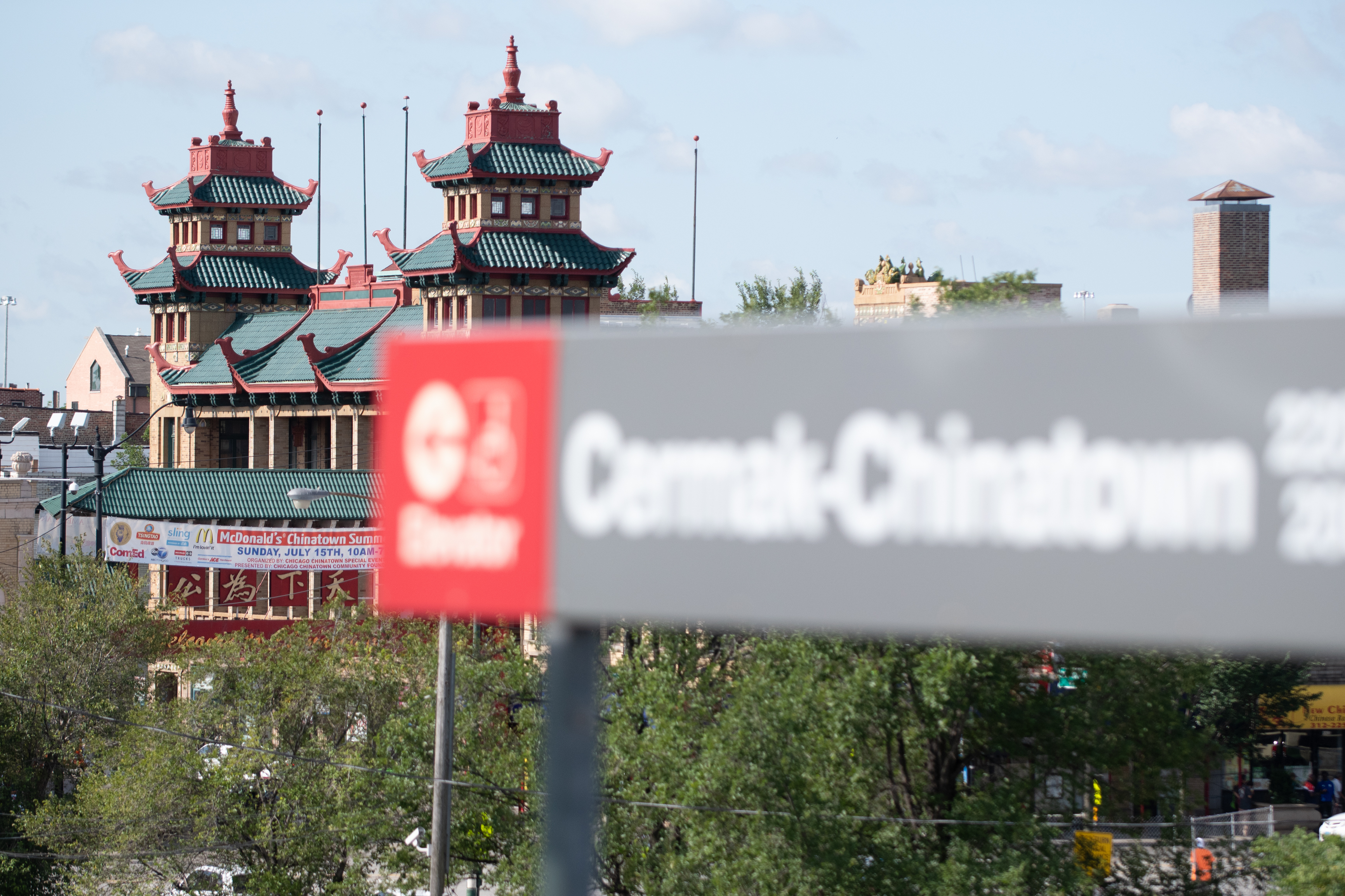 Chinatown neighborhood of Chicago on July 27, 2018 from the Cermak-Chinatown CTA stop.   Colin Boyle/Sun-Times