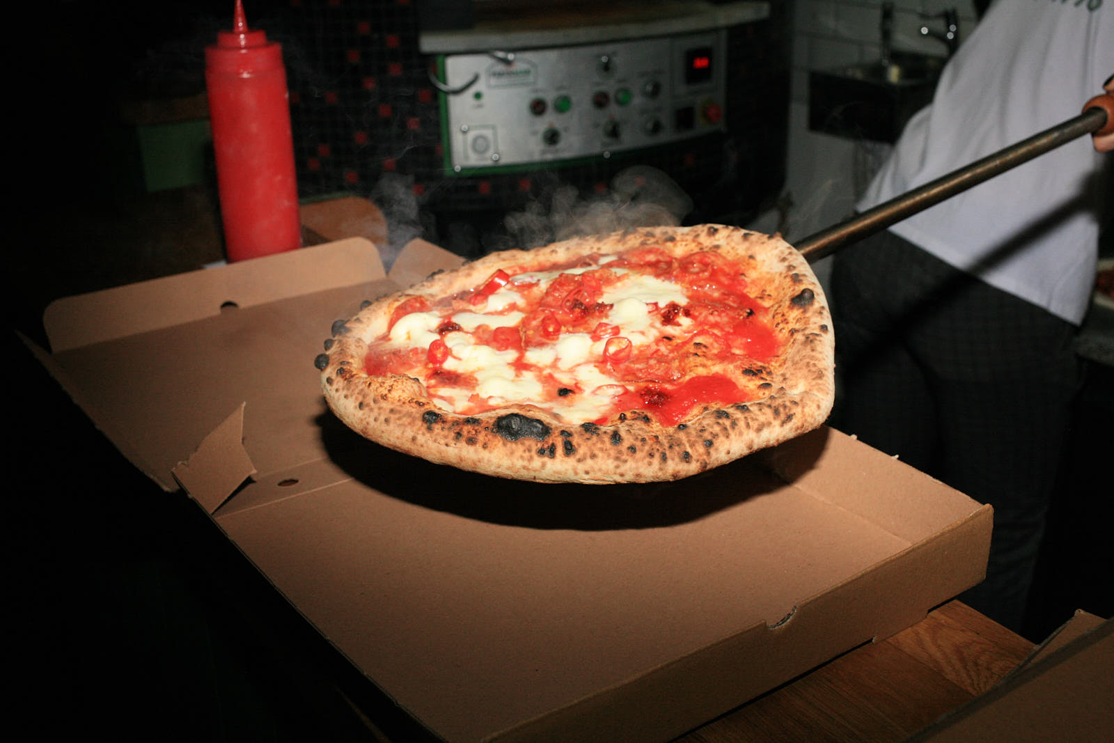 Takeaway pizzas up at Gordos in Dalston —one of the best pizzerias to get takeaway in London for November lockdown