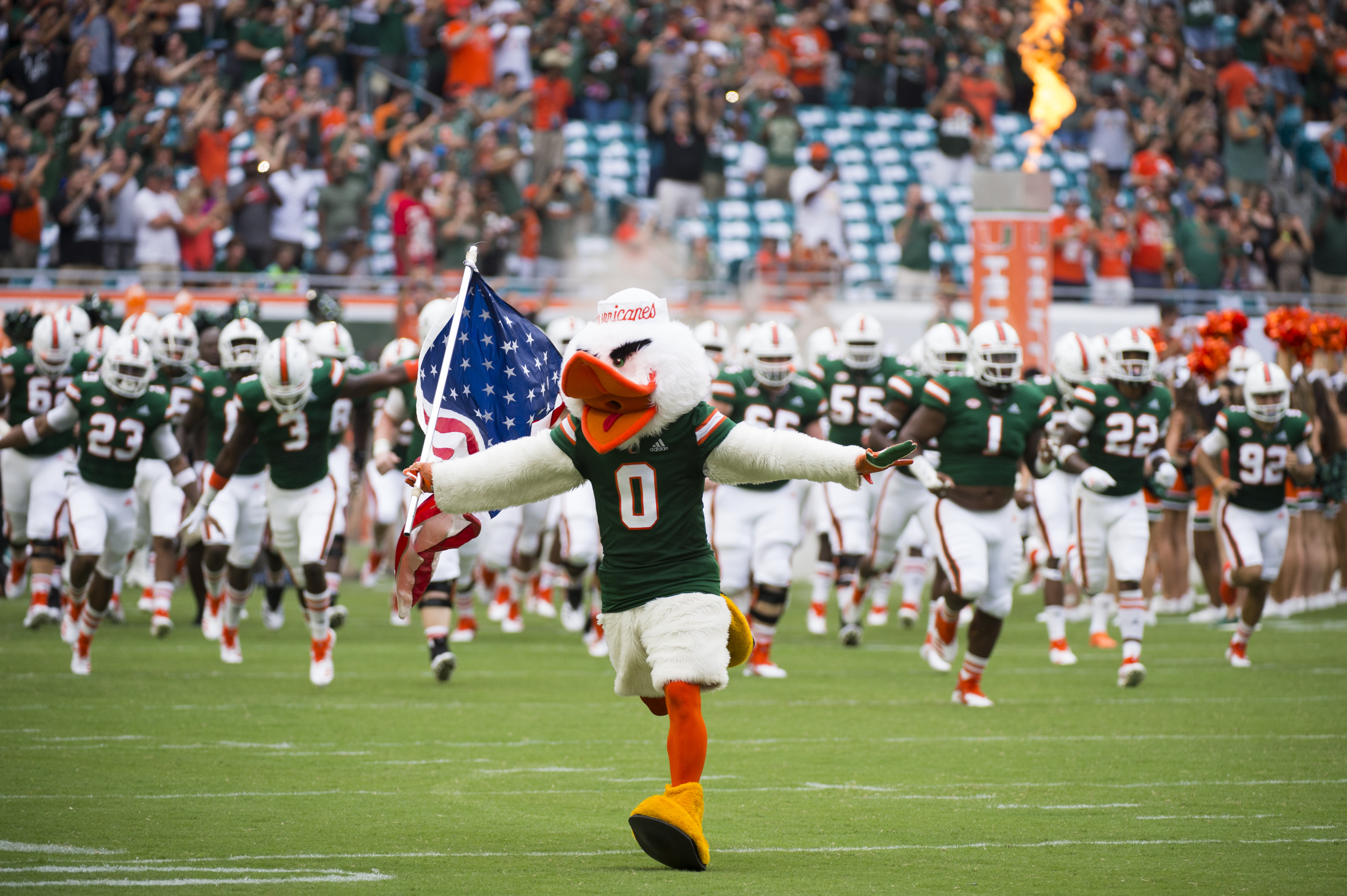 COLLEGE FOOTBALL: SEP 08 Savannah State at Miami