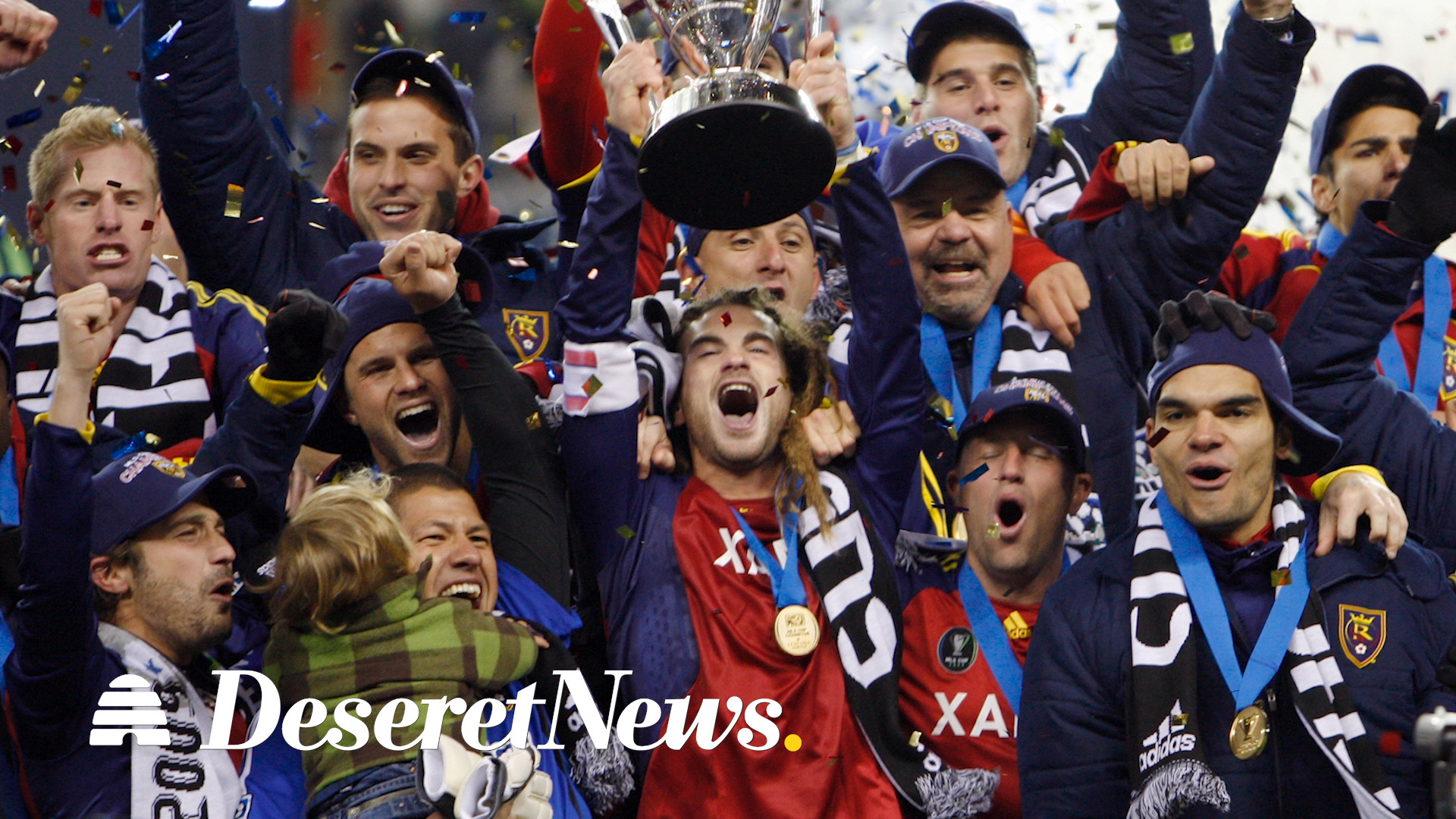 Real Salt Lake team celebrating