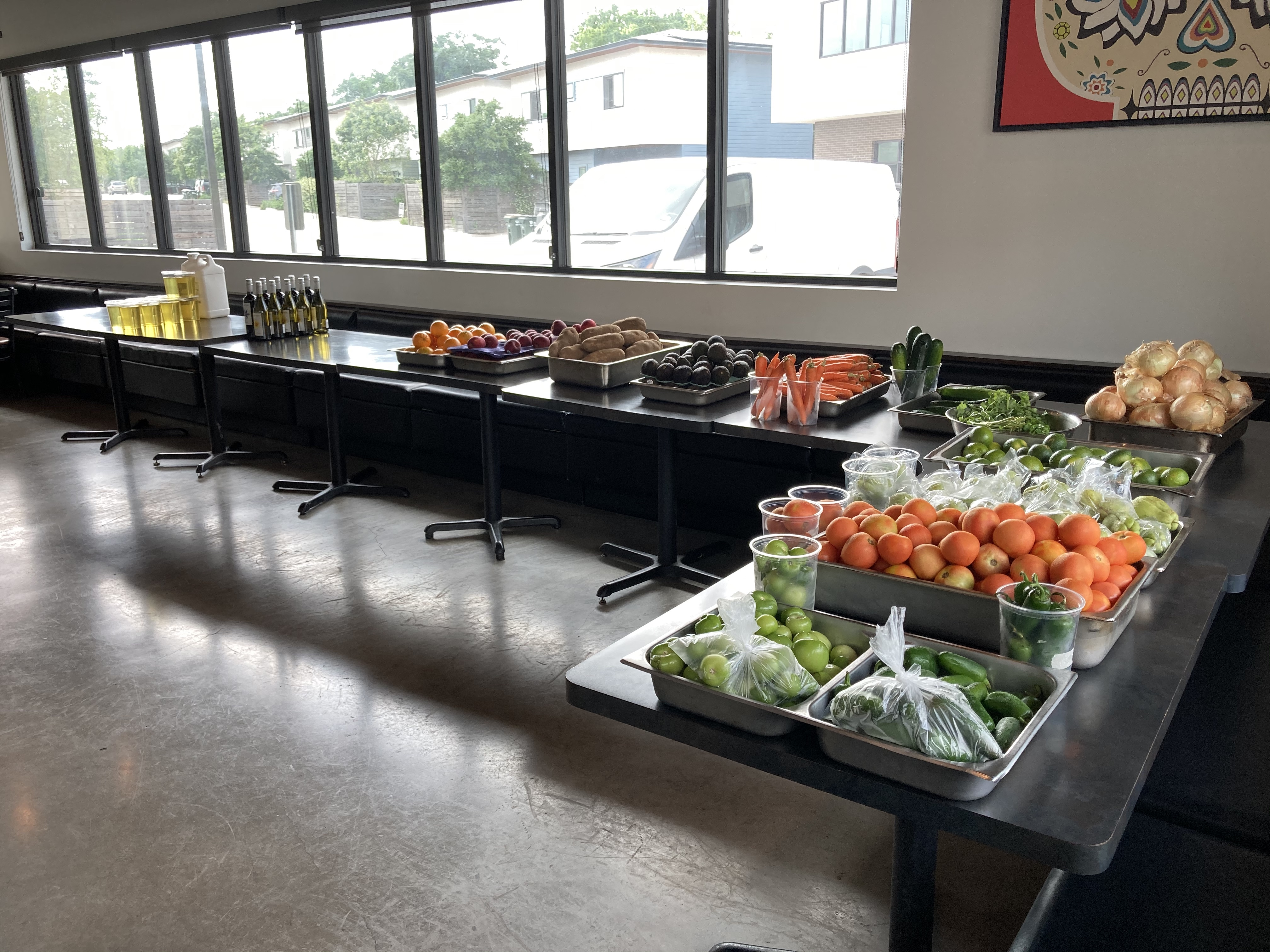 The Neighborhood Pop-Up Grocery market setup at Hecho en Mexico