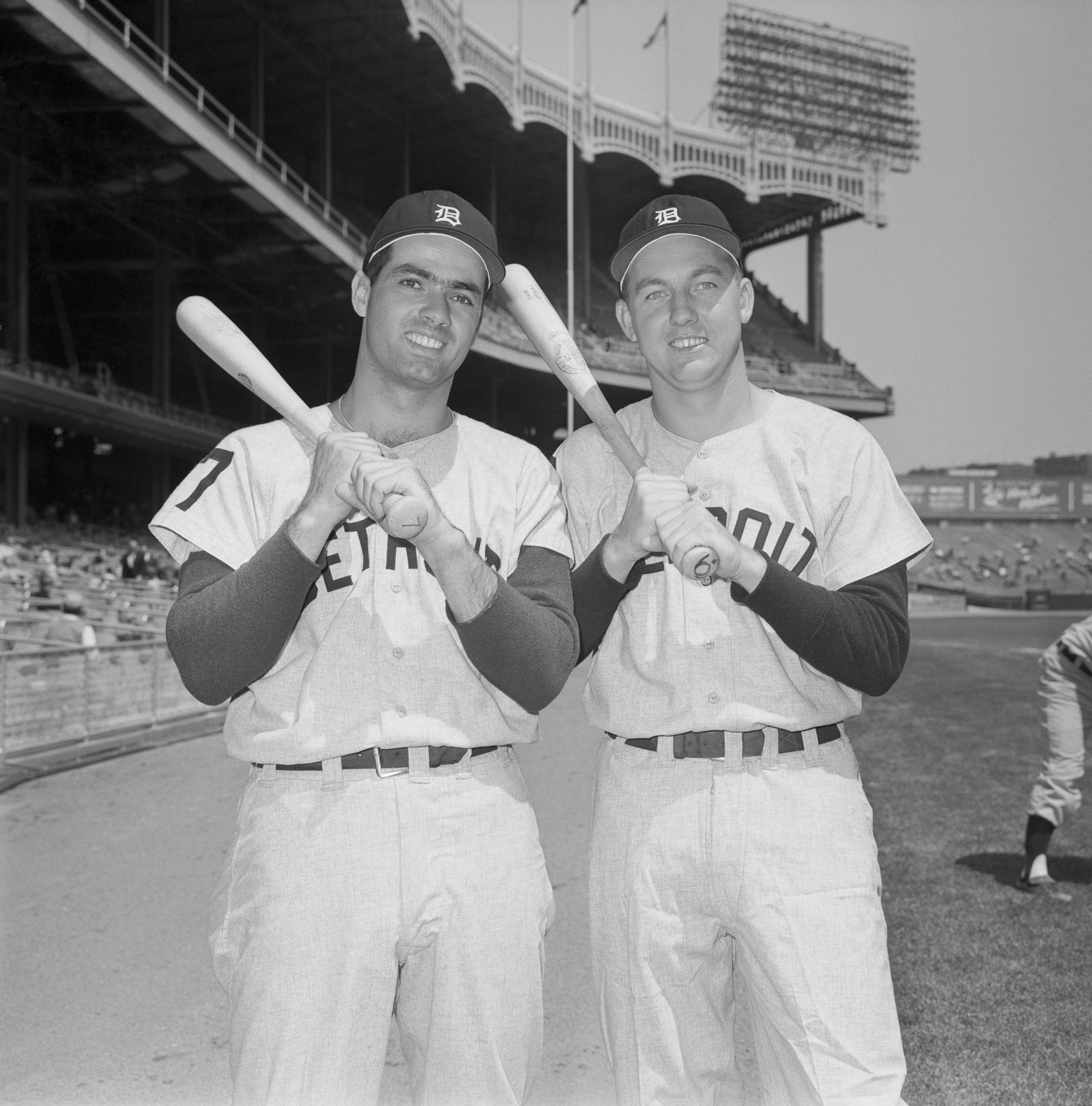 Rocky Colavito and Al Kaline Posing Together