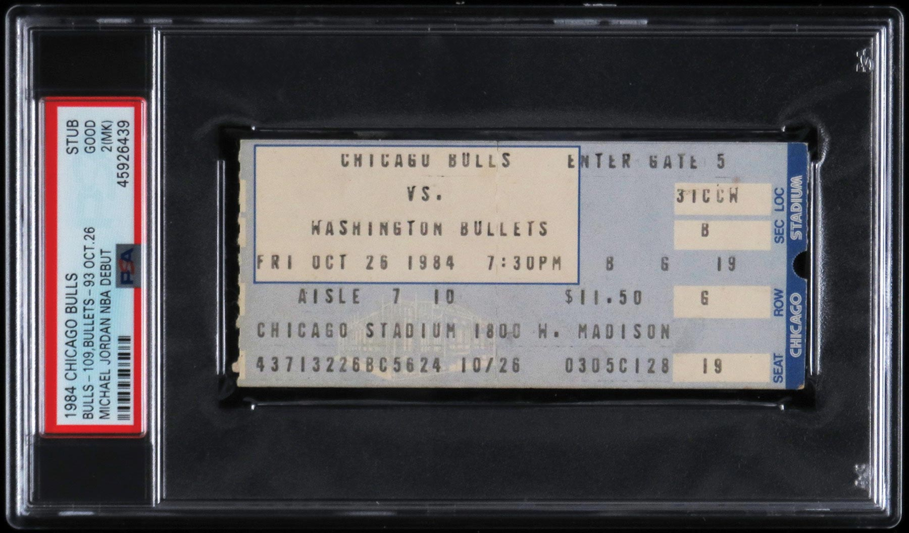A ticket from Michael Jordan's NBA debut sold for nearly $25,000.
