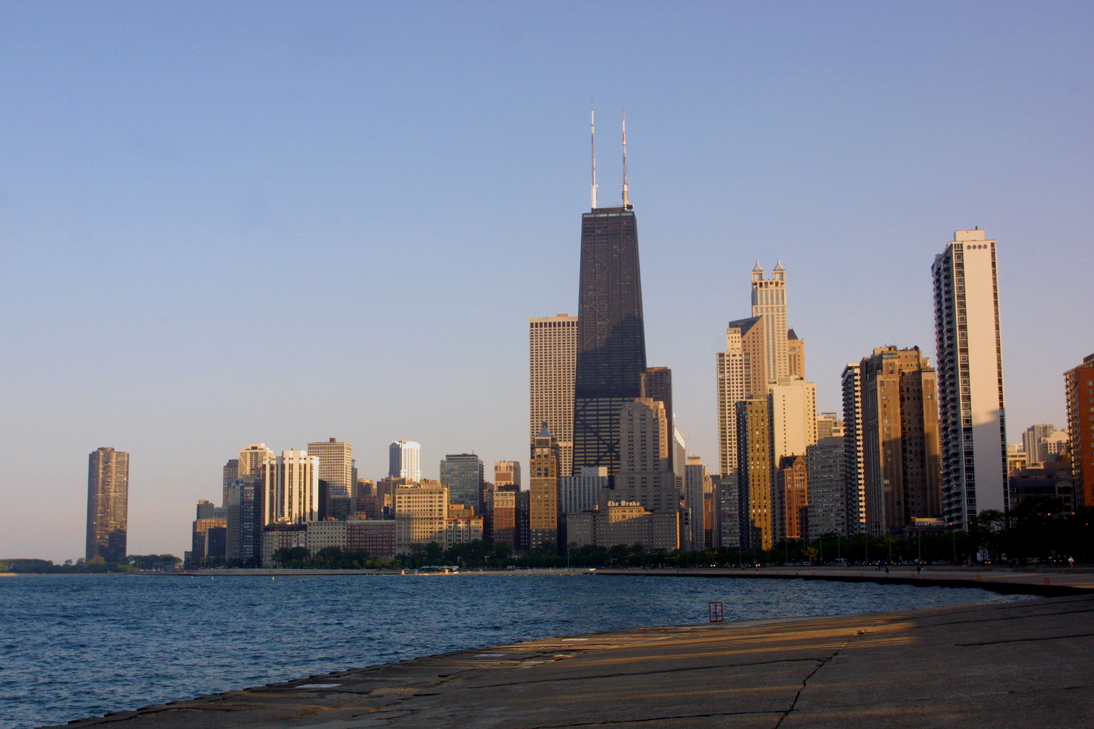 Chicago's skyline from the lakefront