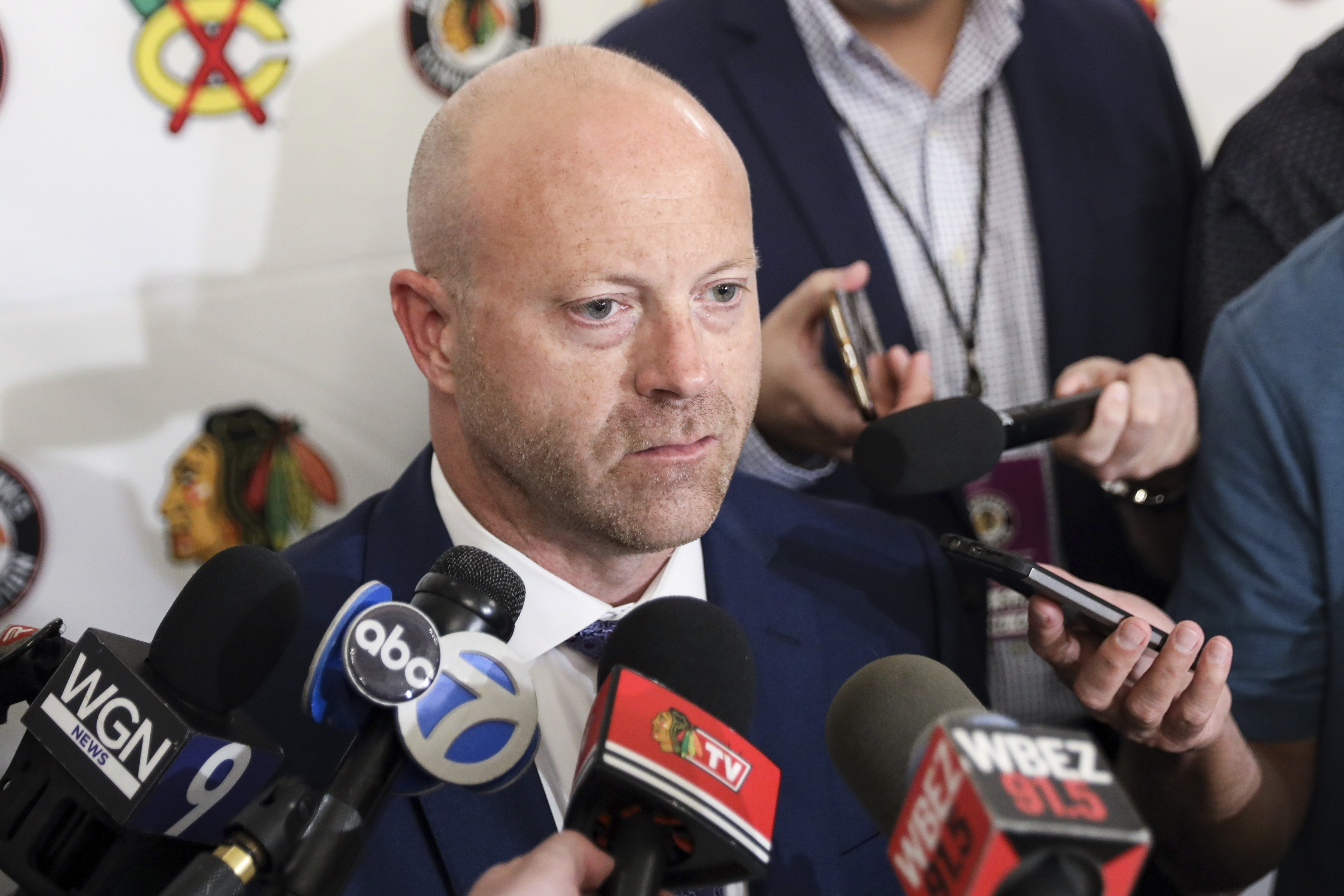 Blackhawks general manager Stan Bowman reached into the European pro leagues again Friday.