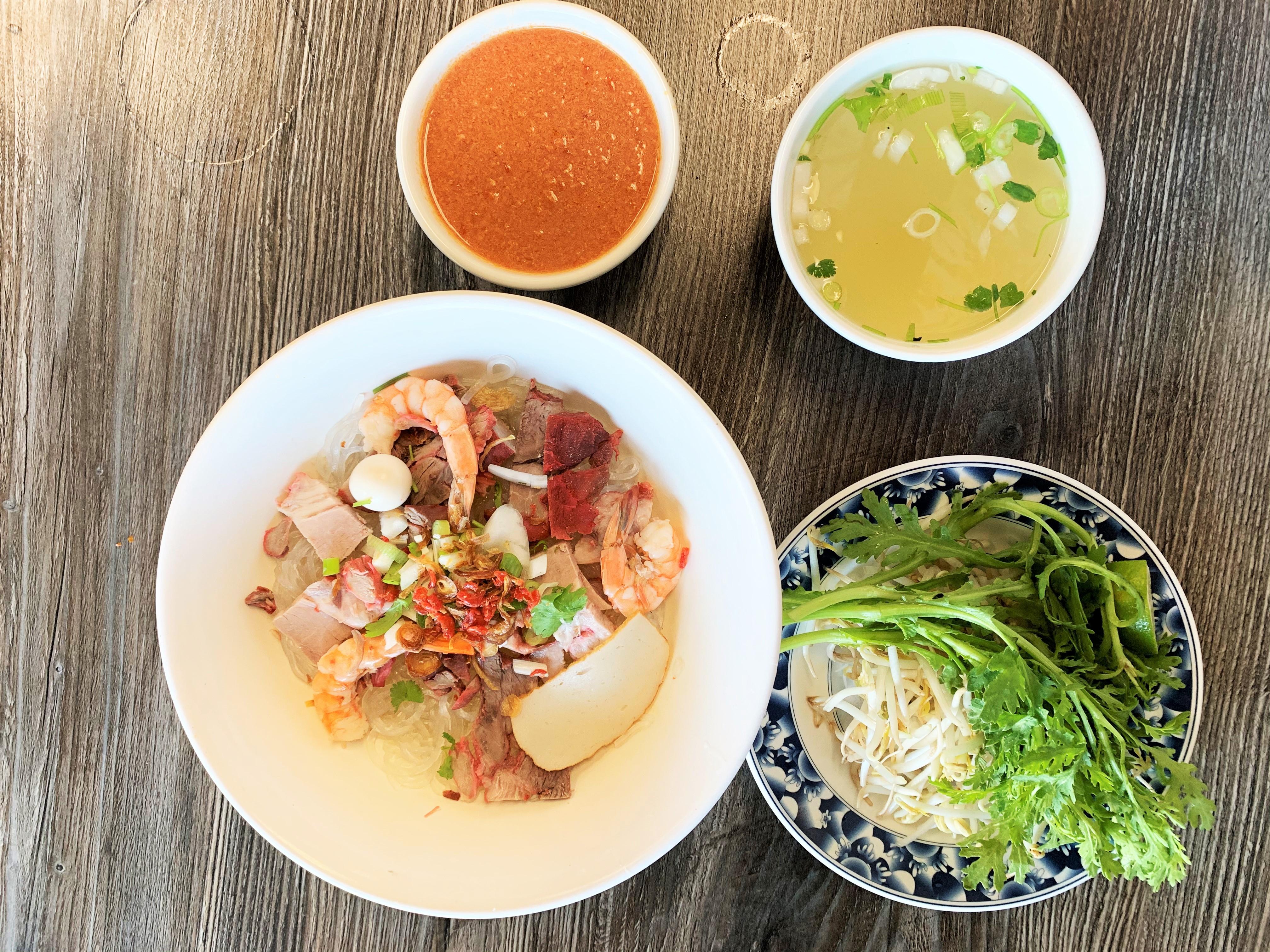 Hu tieu noodle dish at Hu Tieu Thanh Xuan in Westerminster